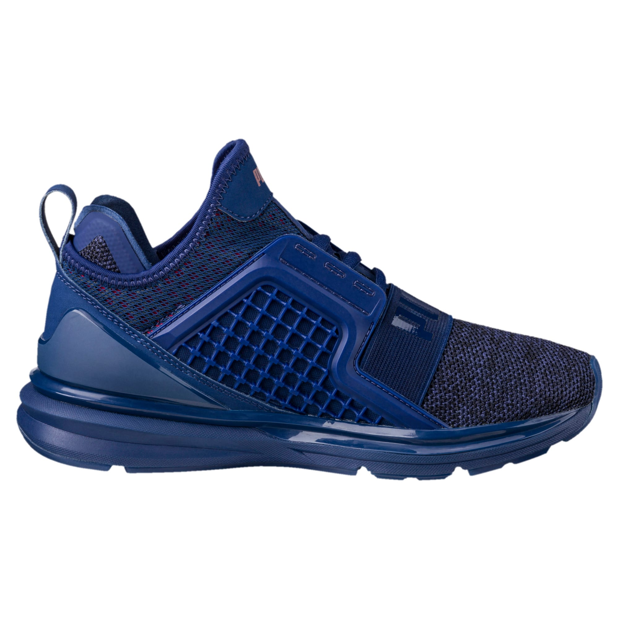 Thumbnail 4 of IGNITE Limitless Knit Kids' Trainers, Blue Depths-Toreador, medium-IND