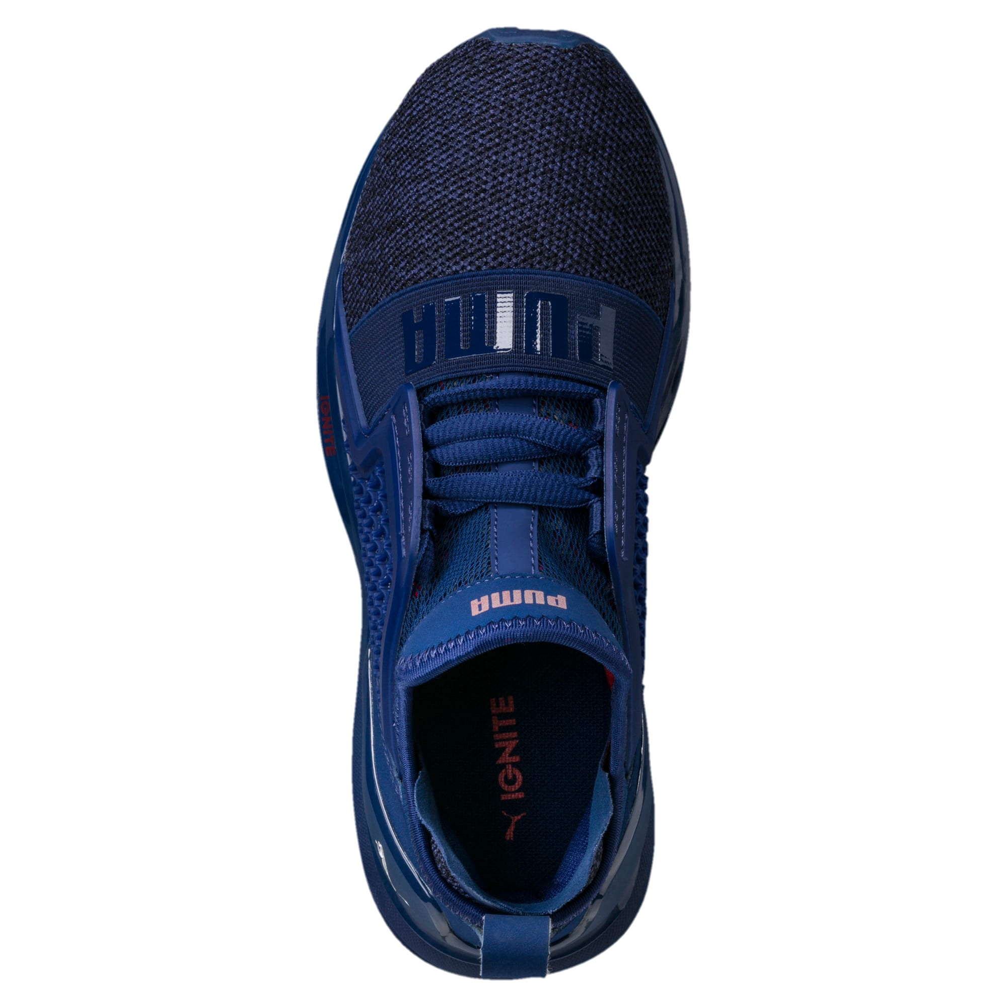 Thumbnail 5 of IGNITE Limitless Knit Kids' Trainers, Blue Depths-Toreador, medium-IND