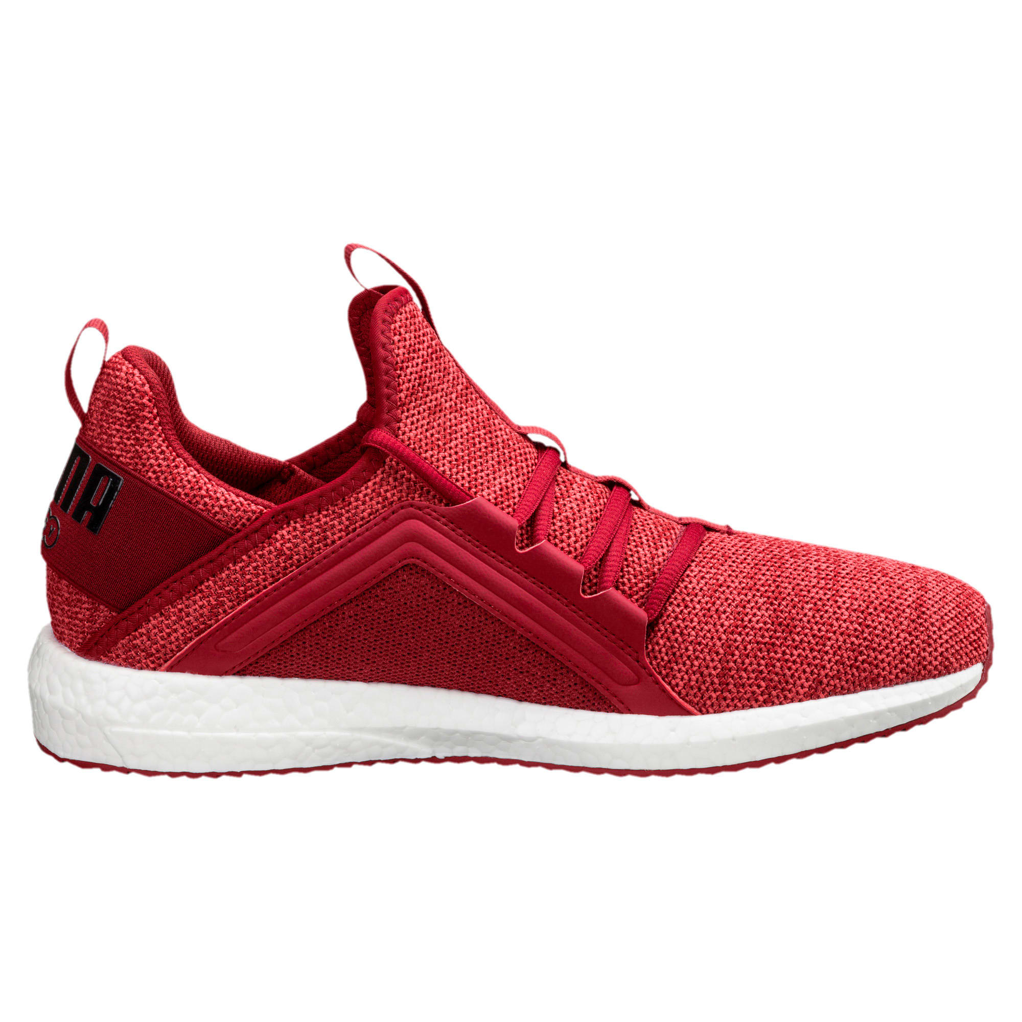 Thumbnail 3 of Mega NRGY Knit Men's Running Shoes, Red Dahlia-Flame Scarlet-Blk, medium
