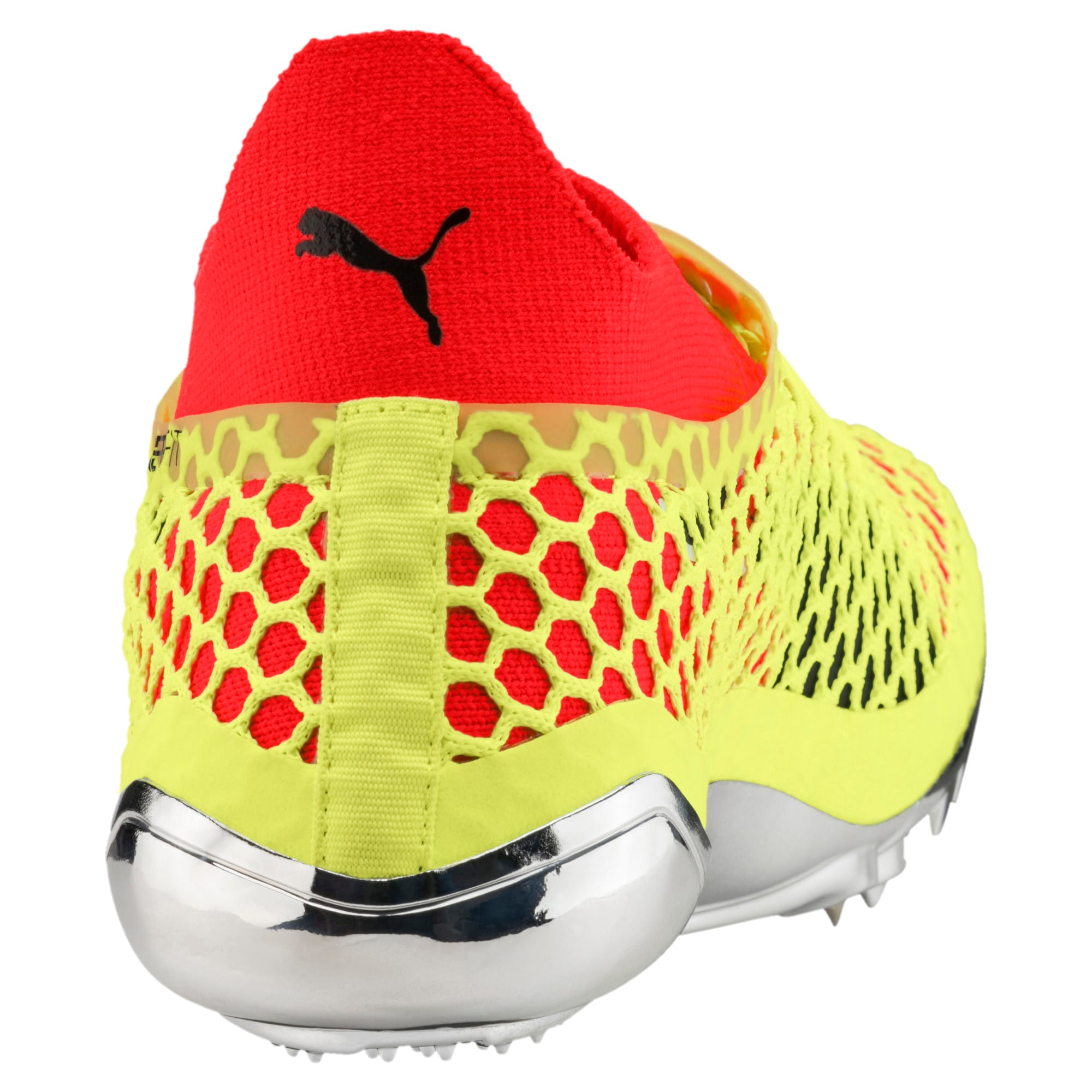 Thumbnail 4 of evoSPEED NETFIT Sprint Running Shoes, Fizzy Yellow-Red Blast-Black, medium