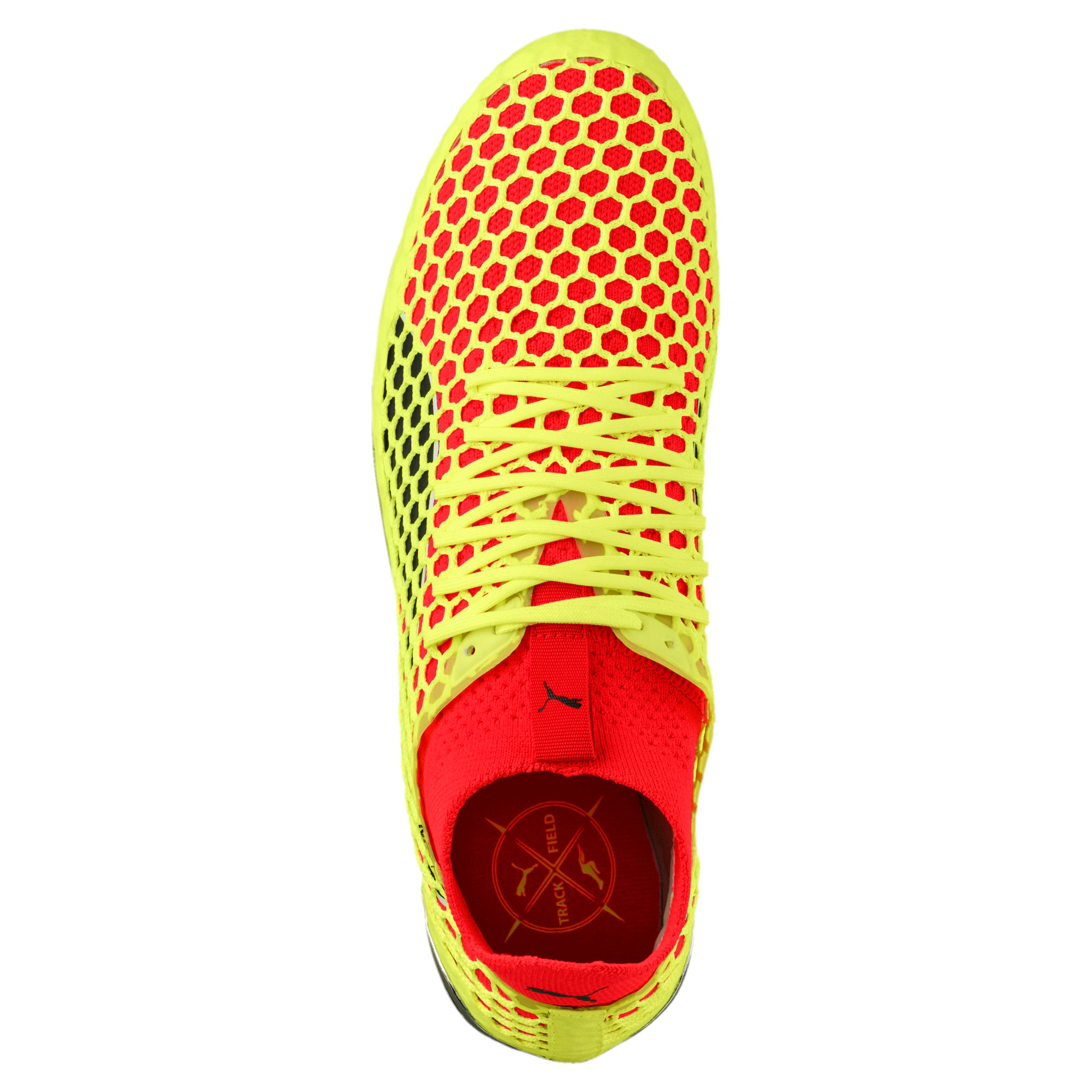 Thumbnail 5 of evoSPEED NETFIT Sprint Running Shoes, Fizzy Yellow-Red Blast-Black, medium