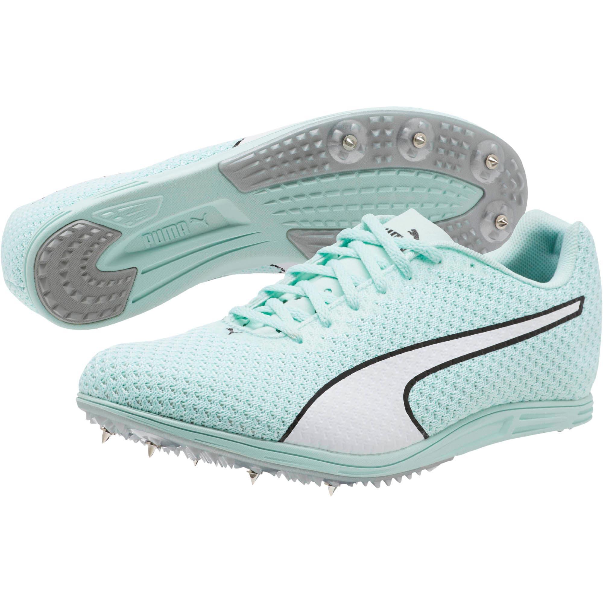 Thumbnail 2 of evoSPEED Distance 8 Women's Track Spikes, Fair Aqua-Puma White, medium
