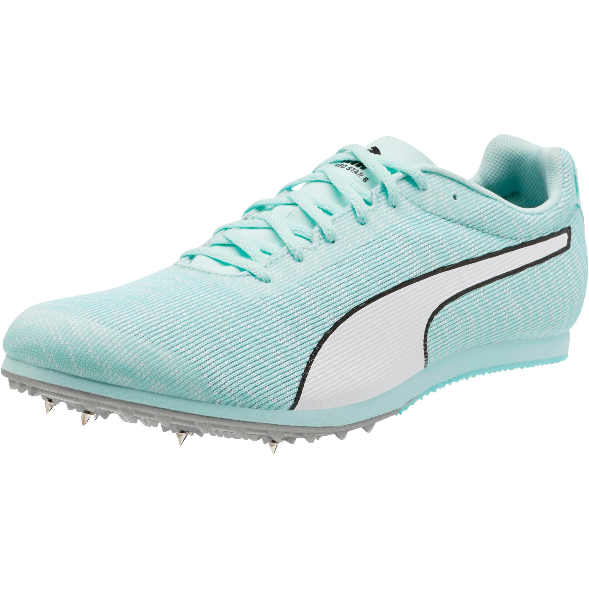 Thumbnail 1 of evoSPEED Star 6 Men's Track Spikes, Fair Aqua-Puma White, medium