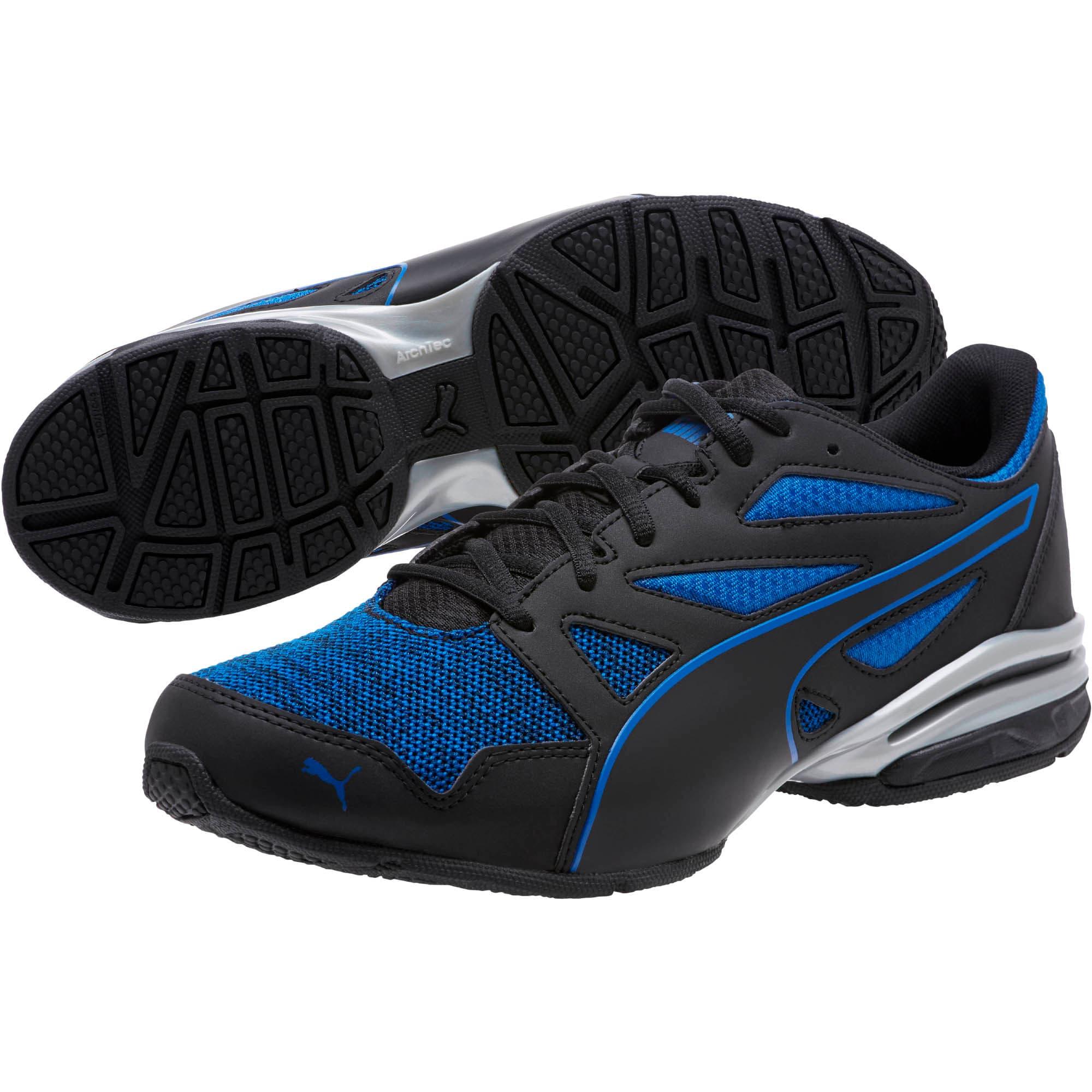 Thumbnail 2 of Tazon Modern Heather Knit Men's Sneakers, Puma Black-Turkish Sea, medium