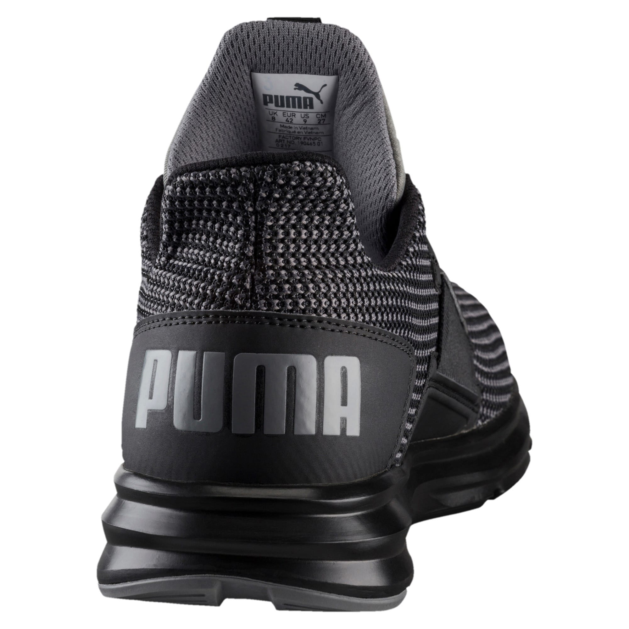 Thumbnail 2 of Enzo Street Knit Men's Running Shoes, QUIET SHADE-Puma Black, medium-IND