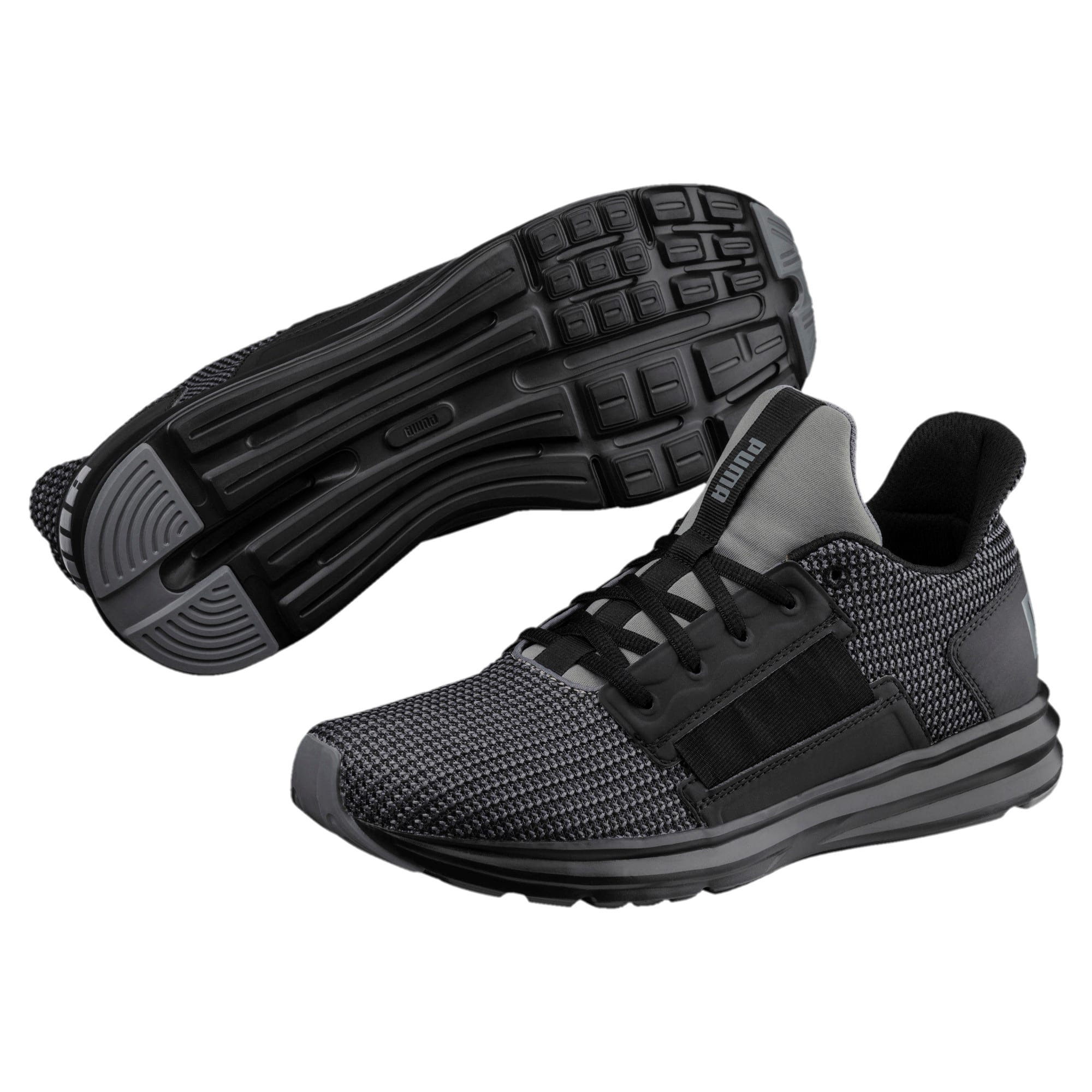 Thumbnail 2 of Enzo Street Knit Men's Running Shoes, QUIET SHADE-Puma Black, medium