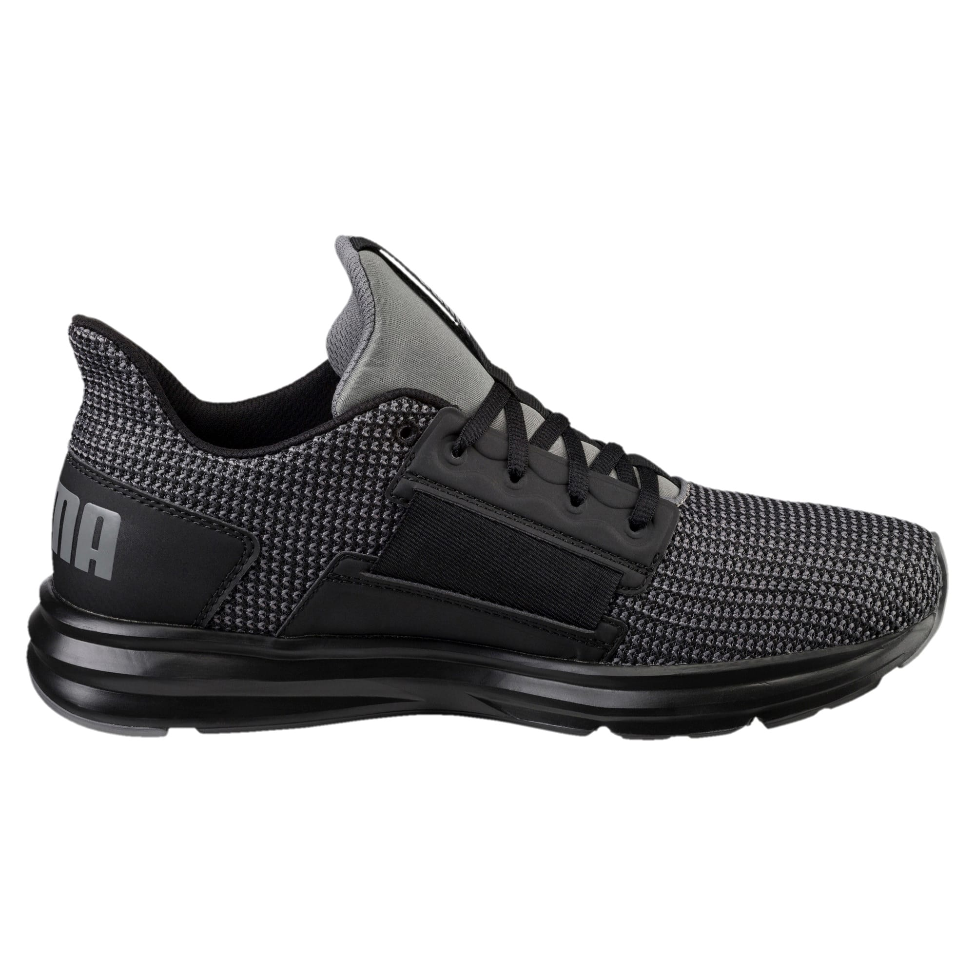 Thumbnail 4 of Enzo Street Knit Men's Running Shoes, QUIET SHADE-Puma Black, medium-IND