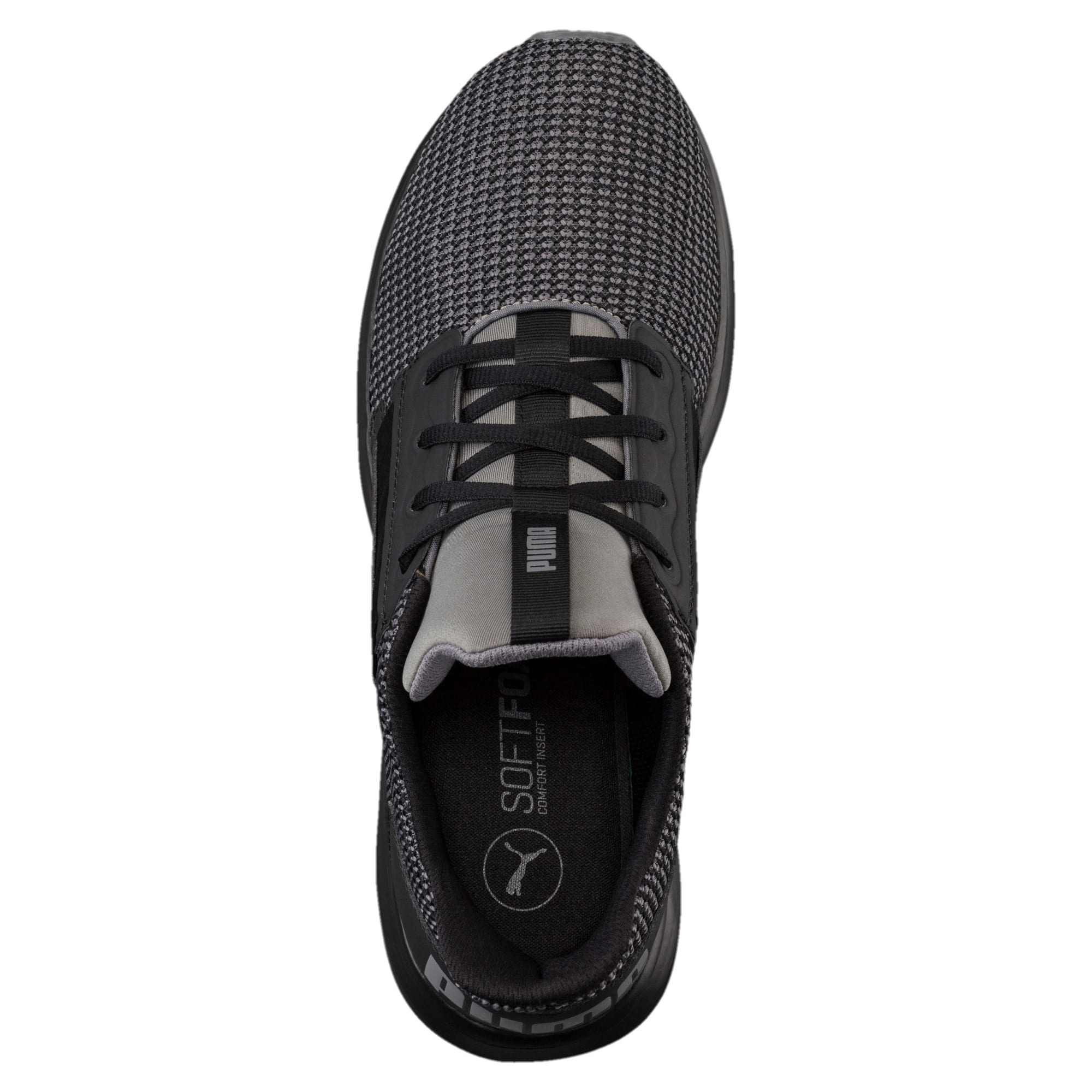 Thumbnail 5 of Enzo Street Knit Men's Running Shoes, QUIET SHADE-Puma Black, medium
