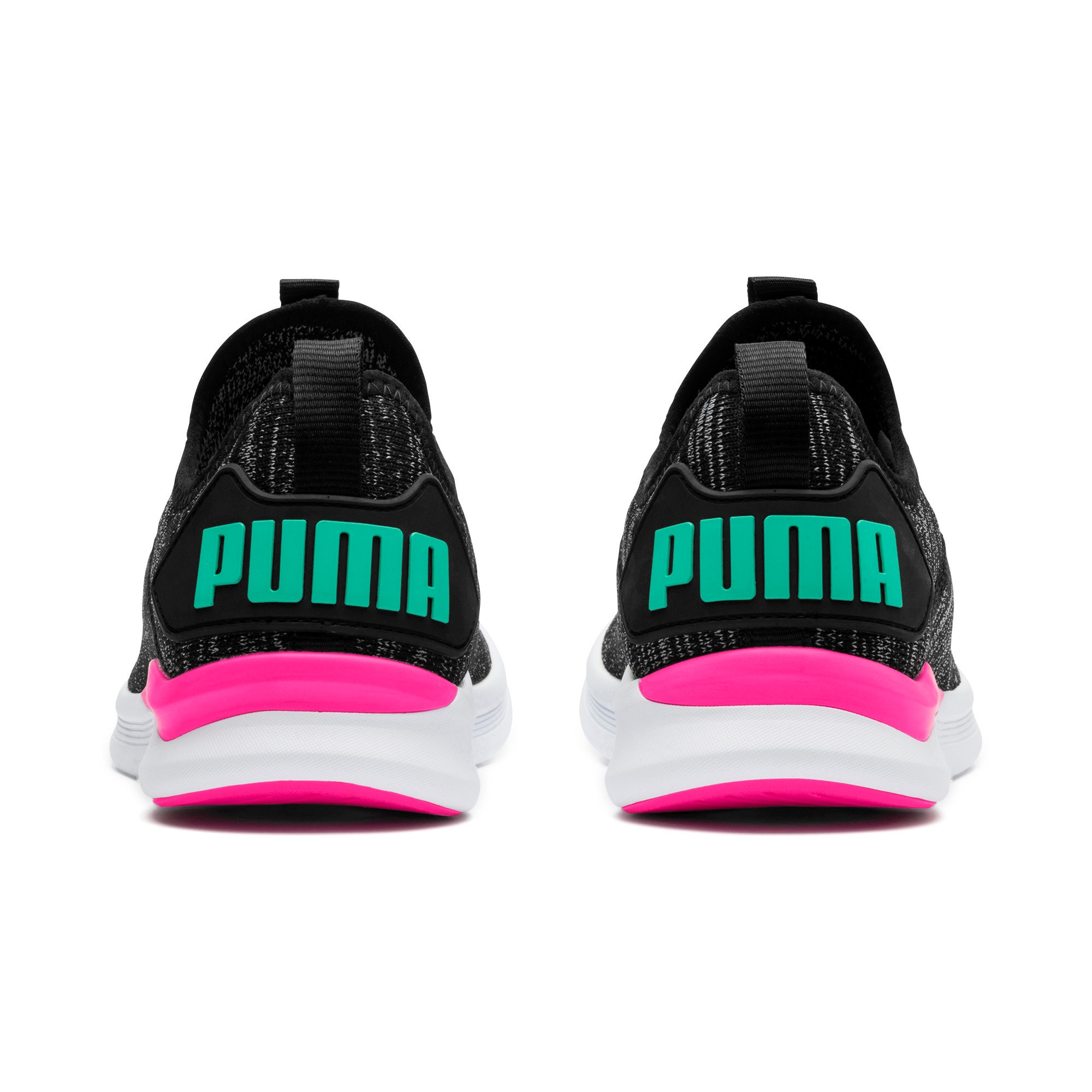 Thumbnail 4 of IGNITE Flash evoKNIT Women's Training Shoes, Black-PINK-Biscay Green, medium