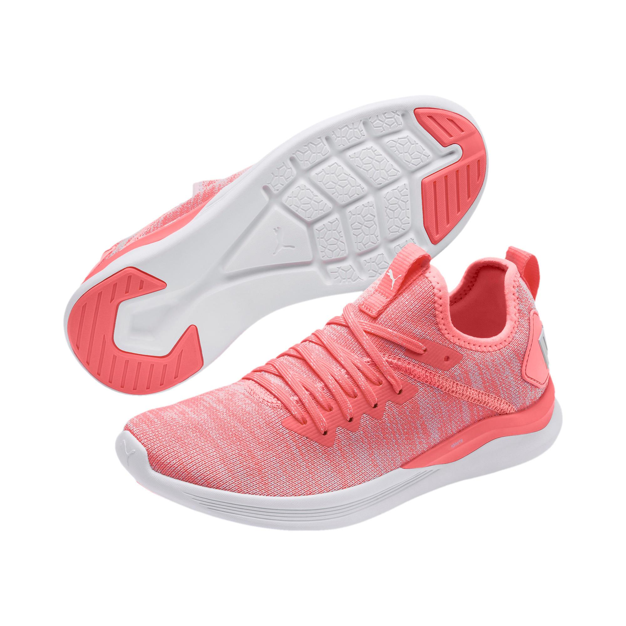 Thumbnail 3 of IGNITE Flash evoKNIT Women's Running Shoes, Bright Peach-Puma White, medium