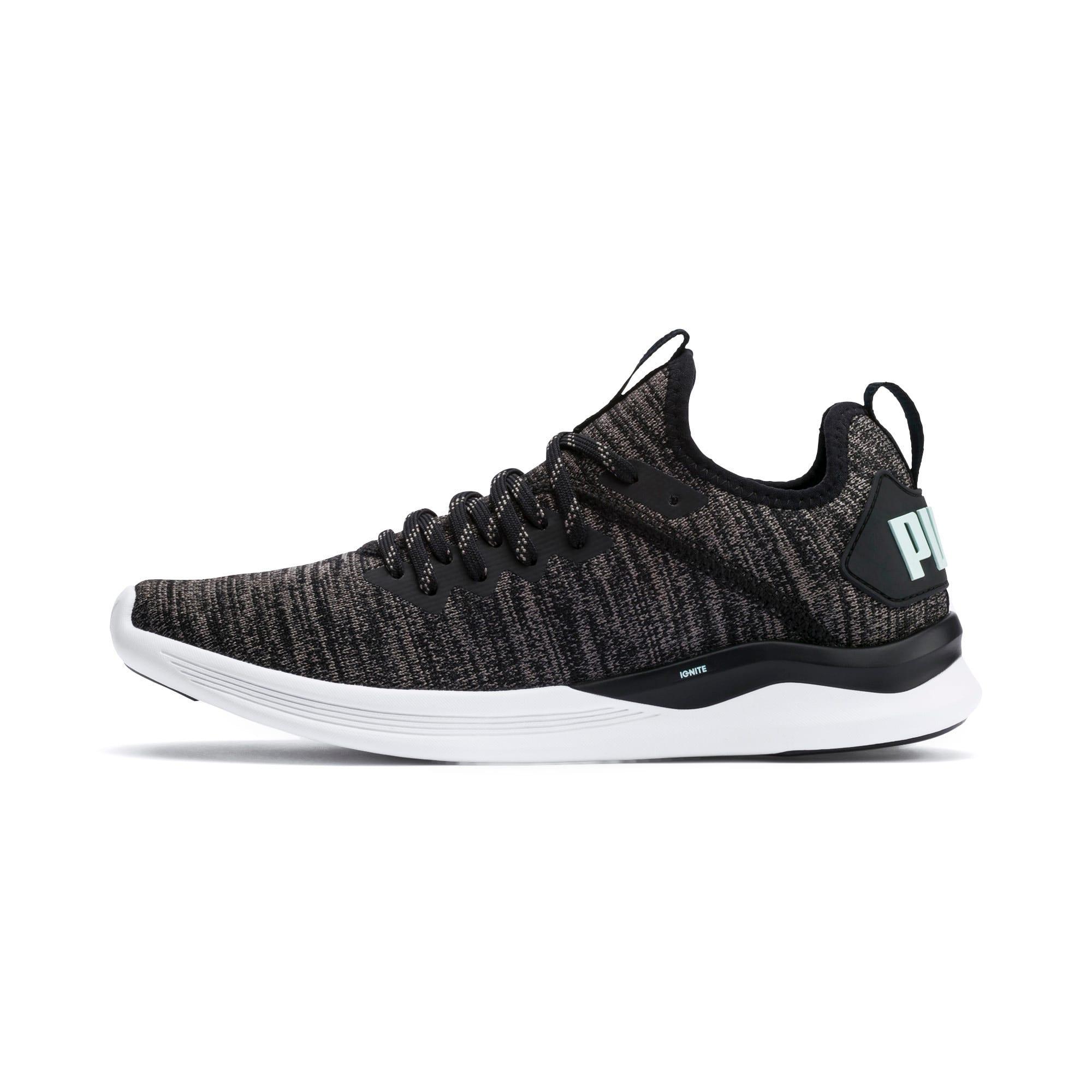 Thumbnail 1 of IGNITE Flash evoKNIT Women's Running Shoes, Black-Charcoal-Fair Aqua, medium