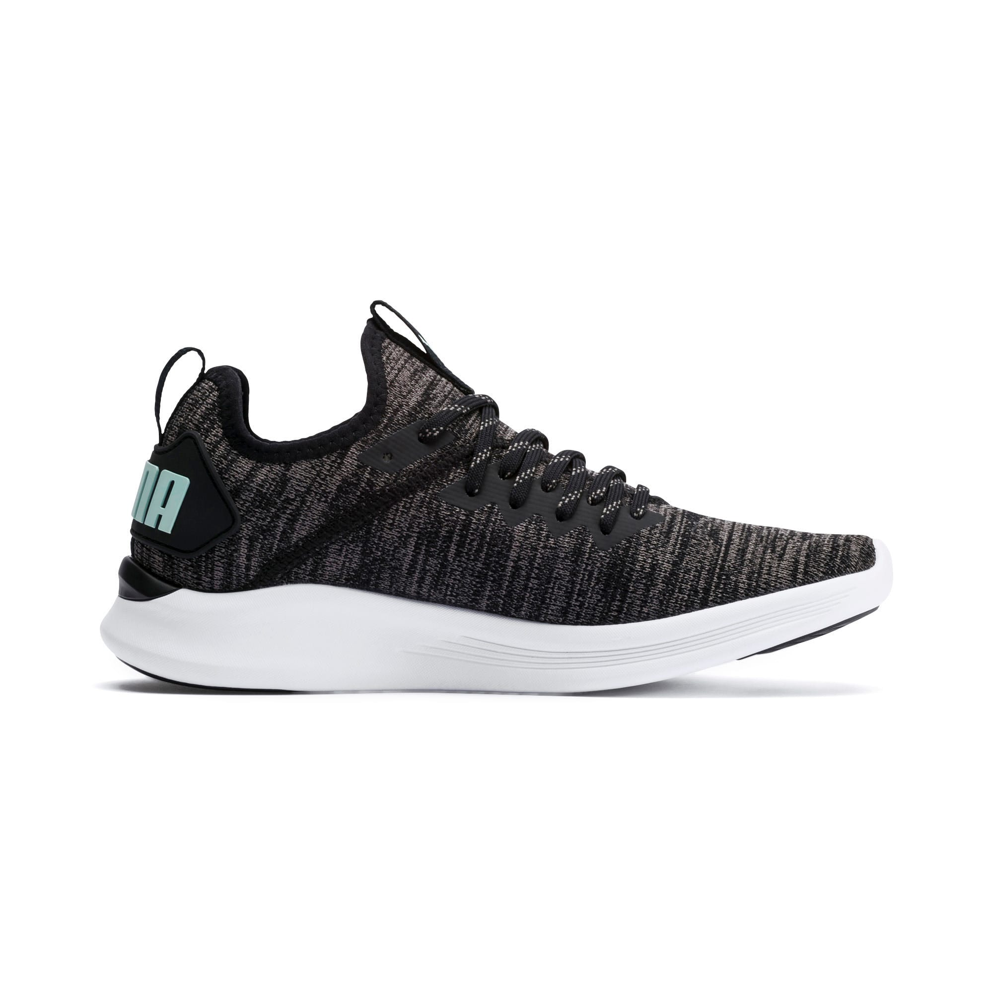 Thumbnail 6 of IGNITE Flash evoKNIT Damen Sneaker, Black-Charcoal-Fair Aqua, medium