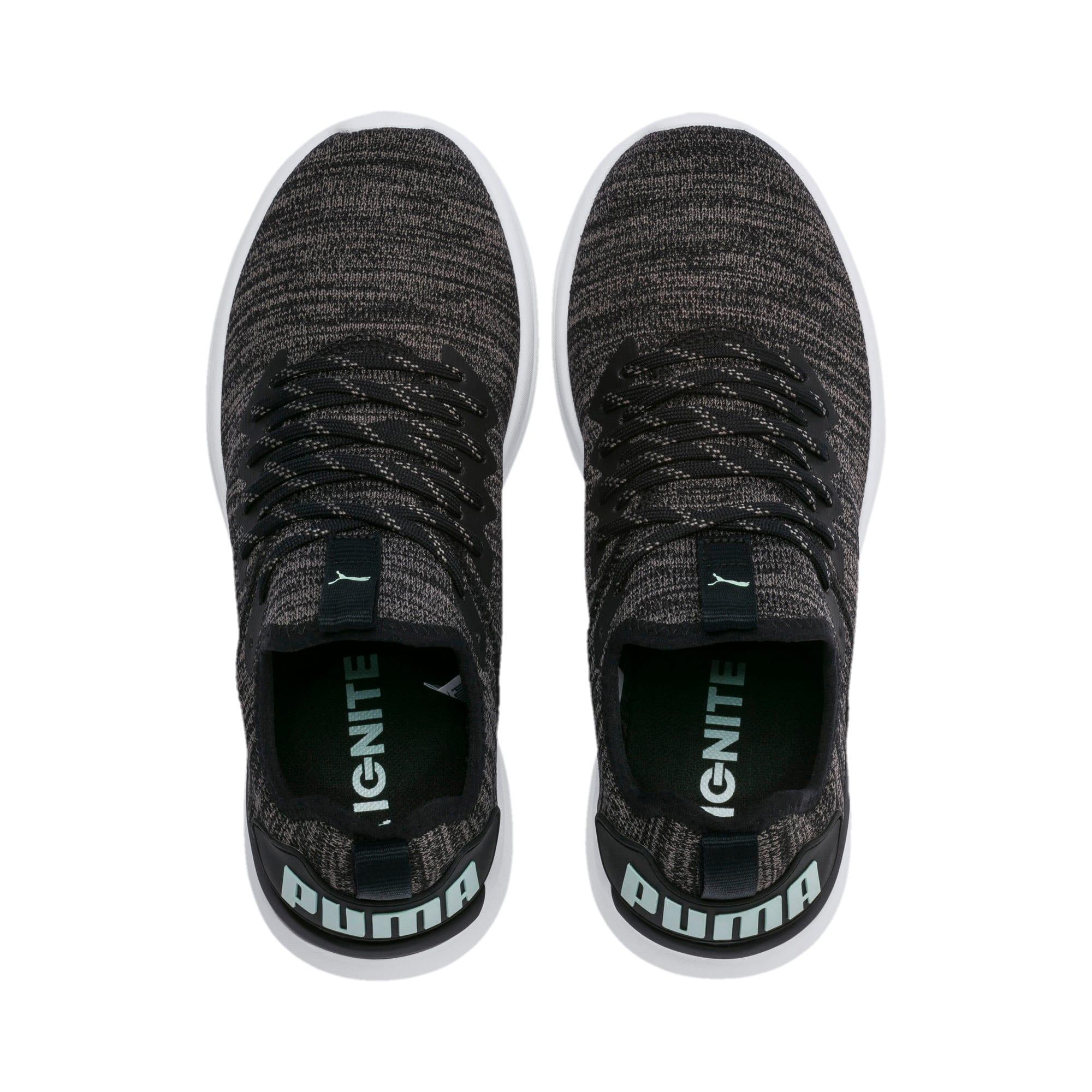 Thumbnail 7 of IGNITE Flash evoKNIT Women's Running Shoes, Black-Charcoal-Fair Aqua, medium