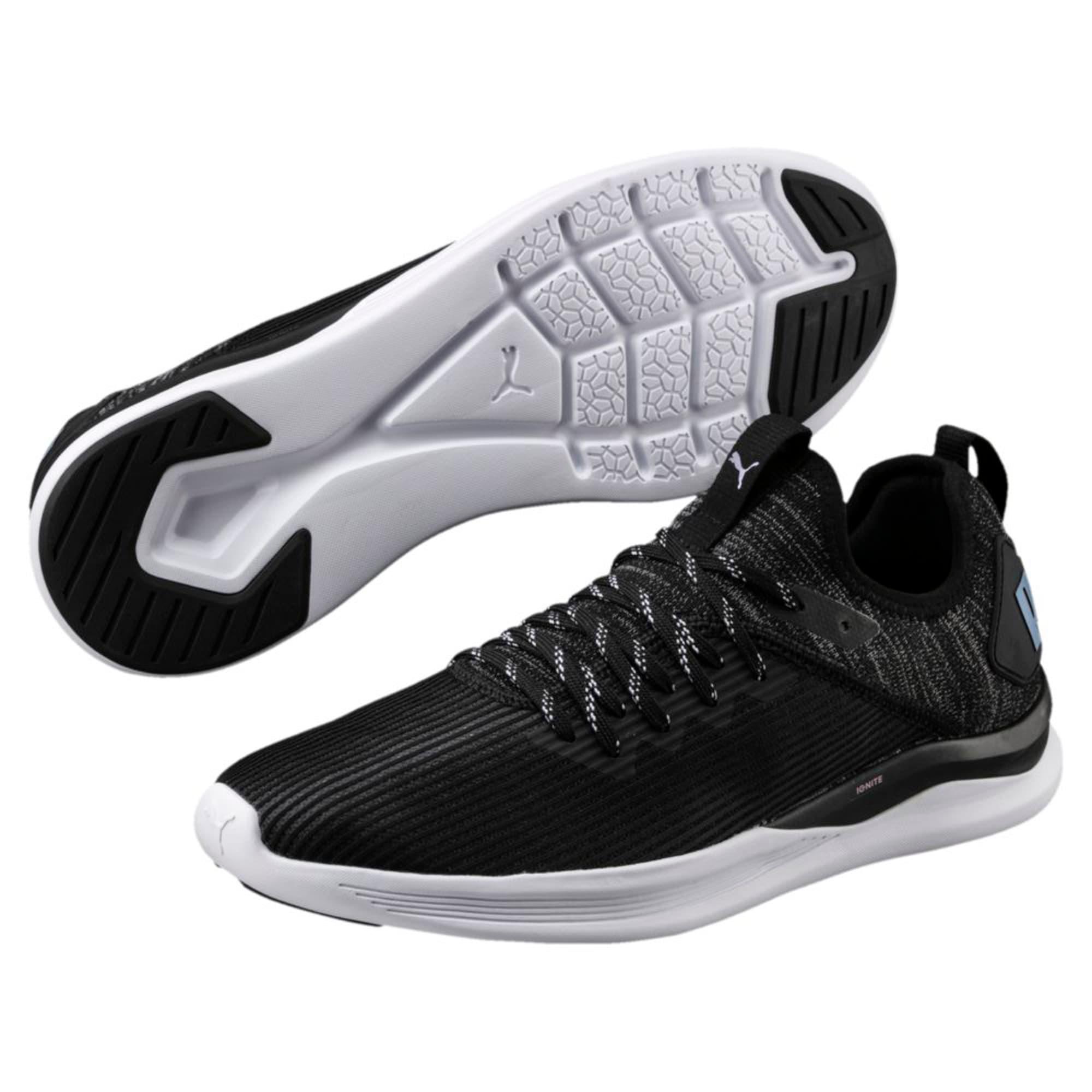 Thumbnail 6 of IGNITE Flash Stripped Men's Running Shoes, Puma Black-QUIET SHADE, medium-IND