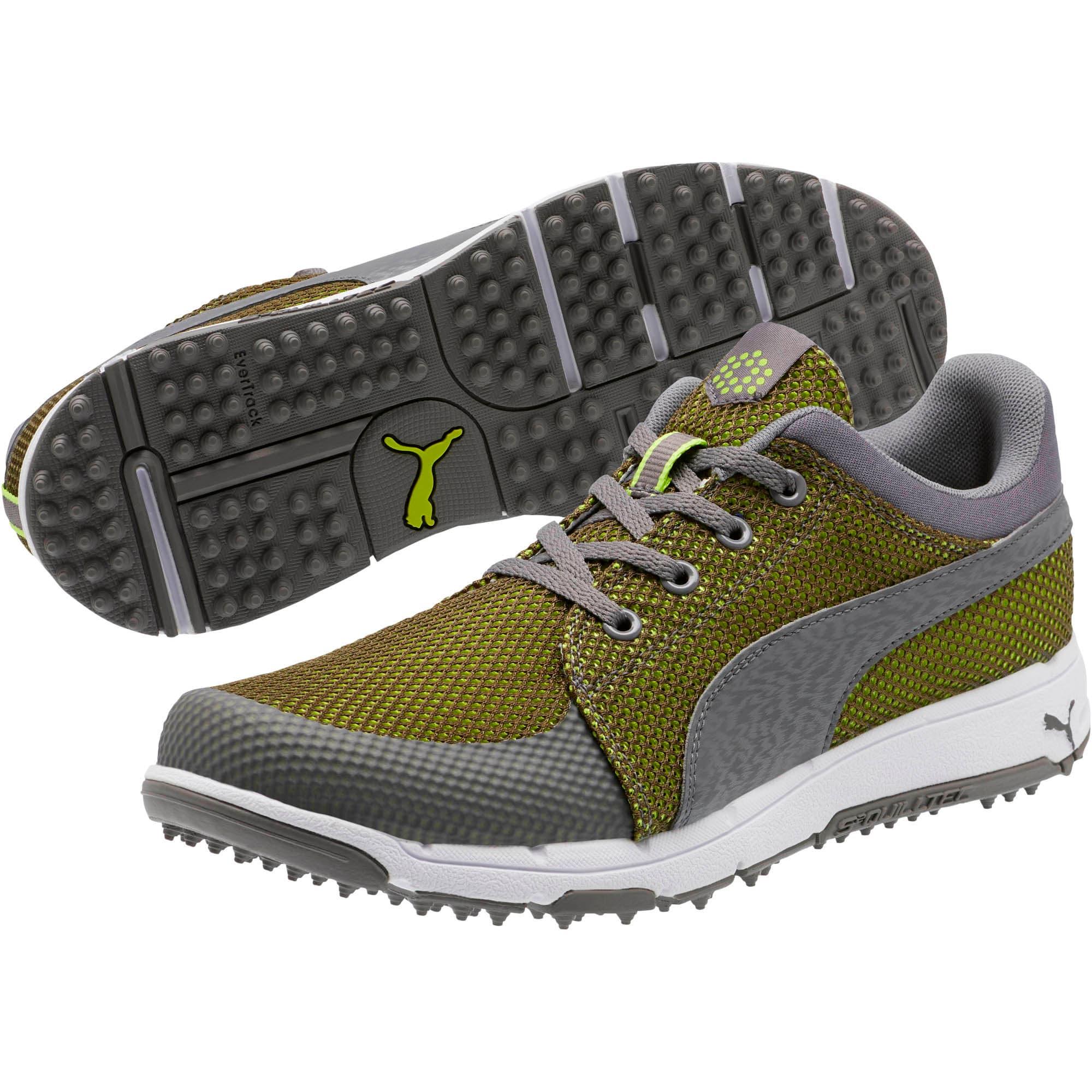 Thumbnail 2 of GRIP Sport Tech Men's Golf Shoes, QUIET SHADE-QUIET SHADE-Lime, medium