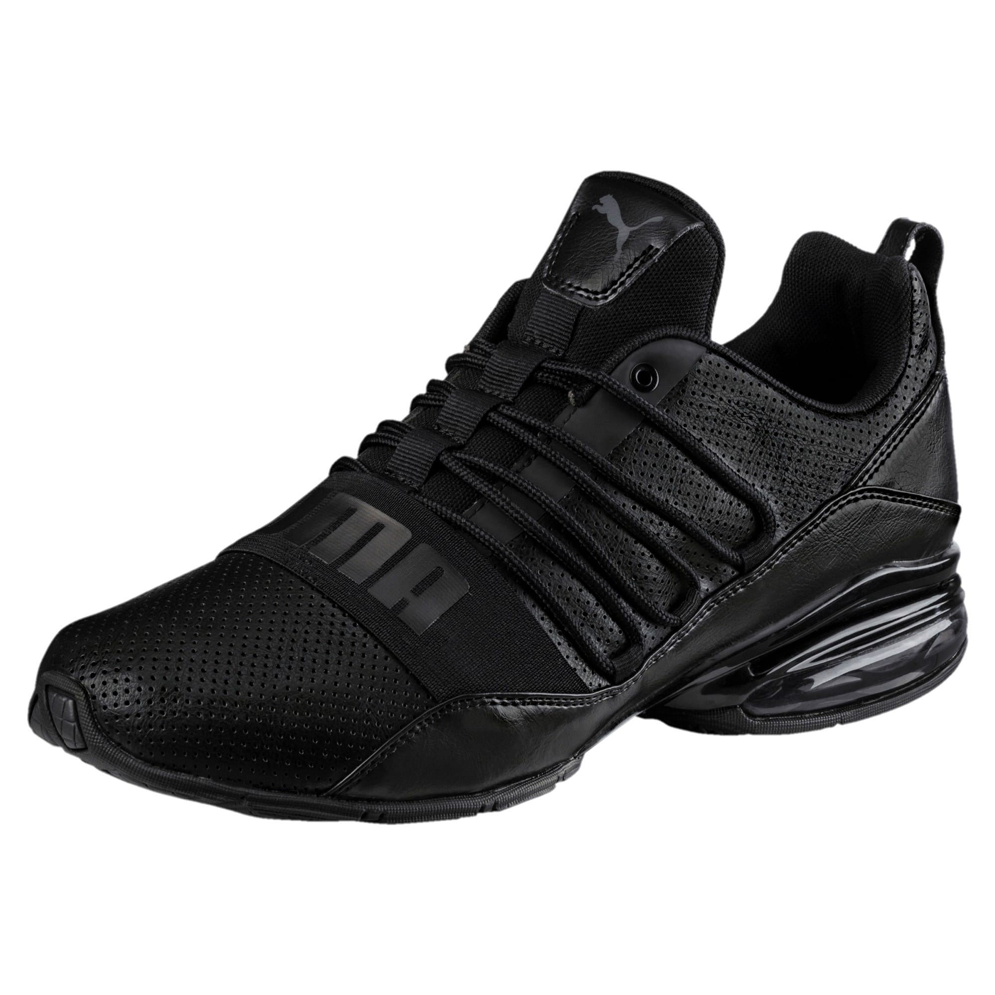Cell Regulate Men's Running Shoes, Puma Black-Dark Shadow, large