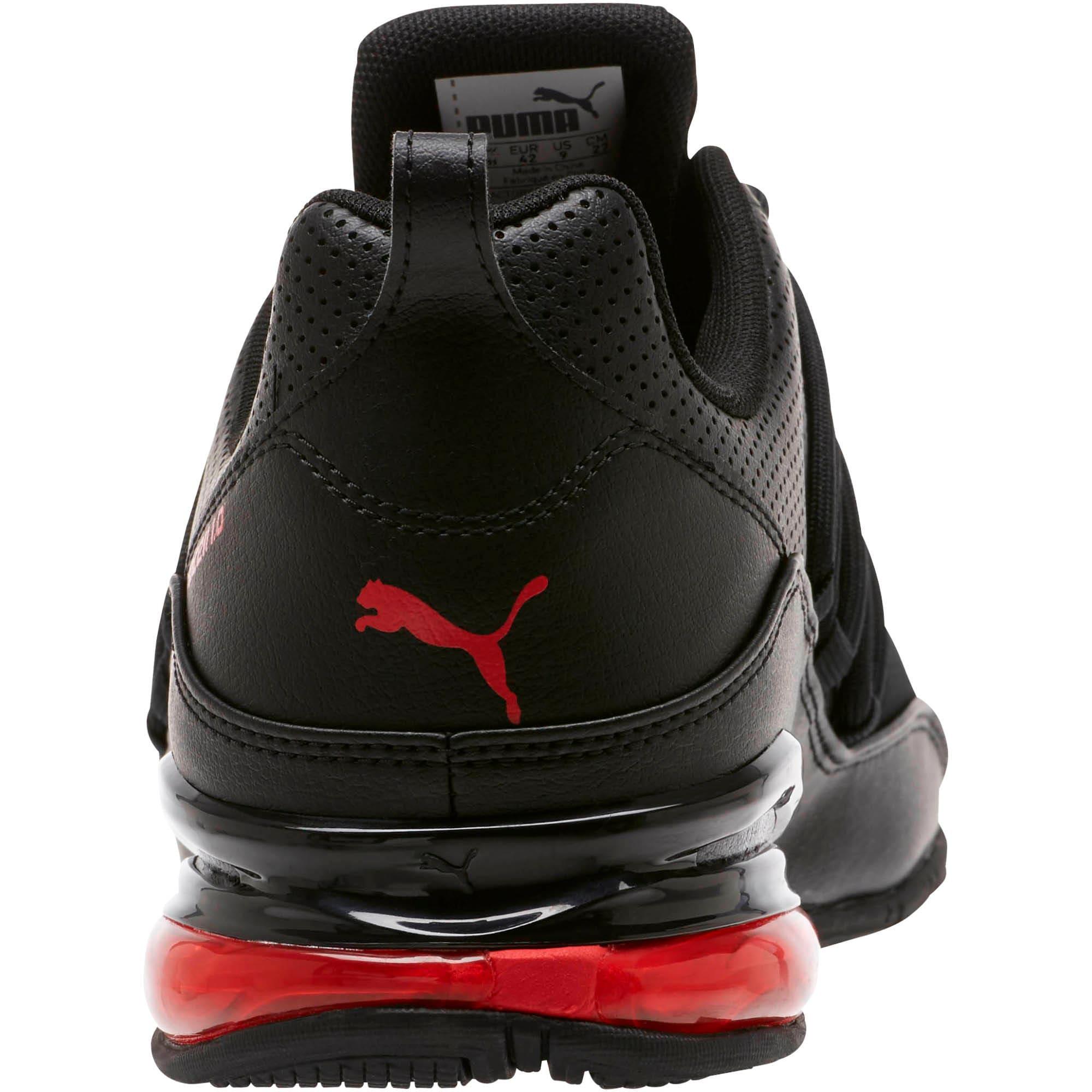 Miniatura 4 de Zapatos para correr Cell Regulate para hombre, Puma Black-High Risk Red, mediano