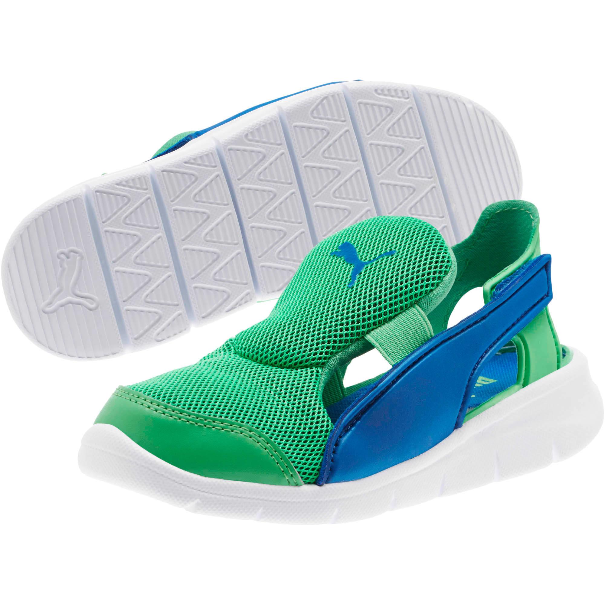 Thumbnail 2 of Bao 3 Open Little Kids' Shoes, Surf The Web-Irish Green, medium