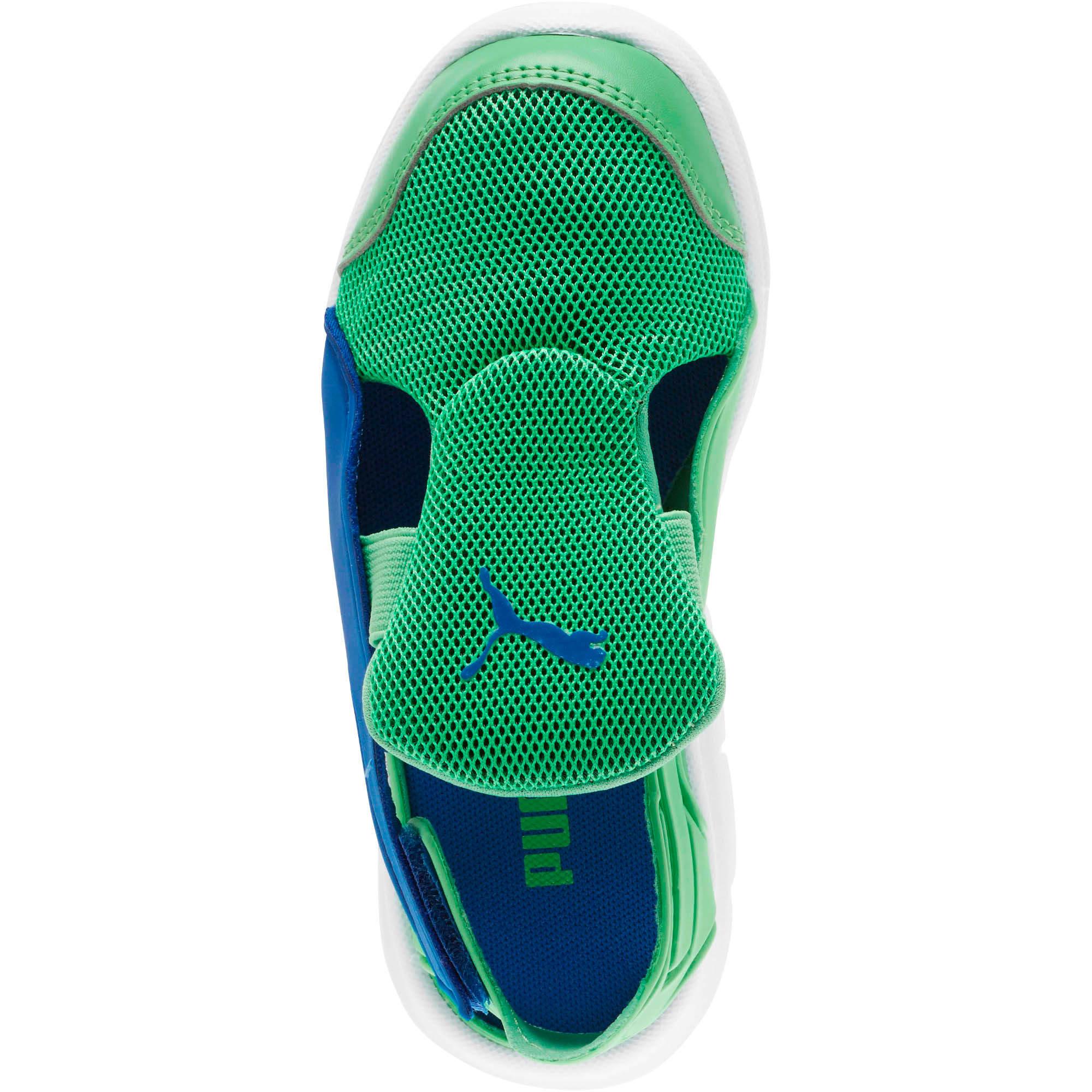 Thumbnail 5 of Bao 3 Open Little Kids' Shoes, Surf The Web-Irish Green, medium