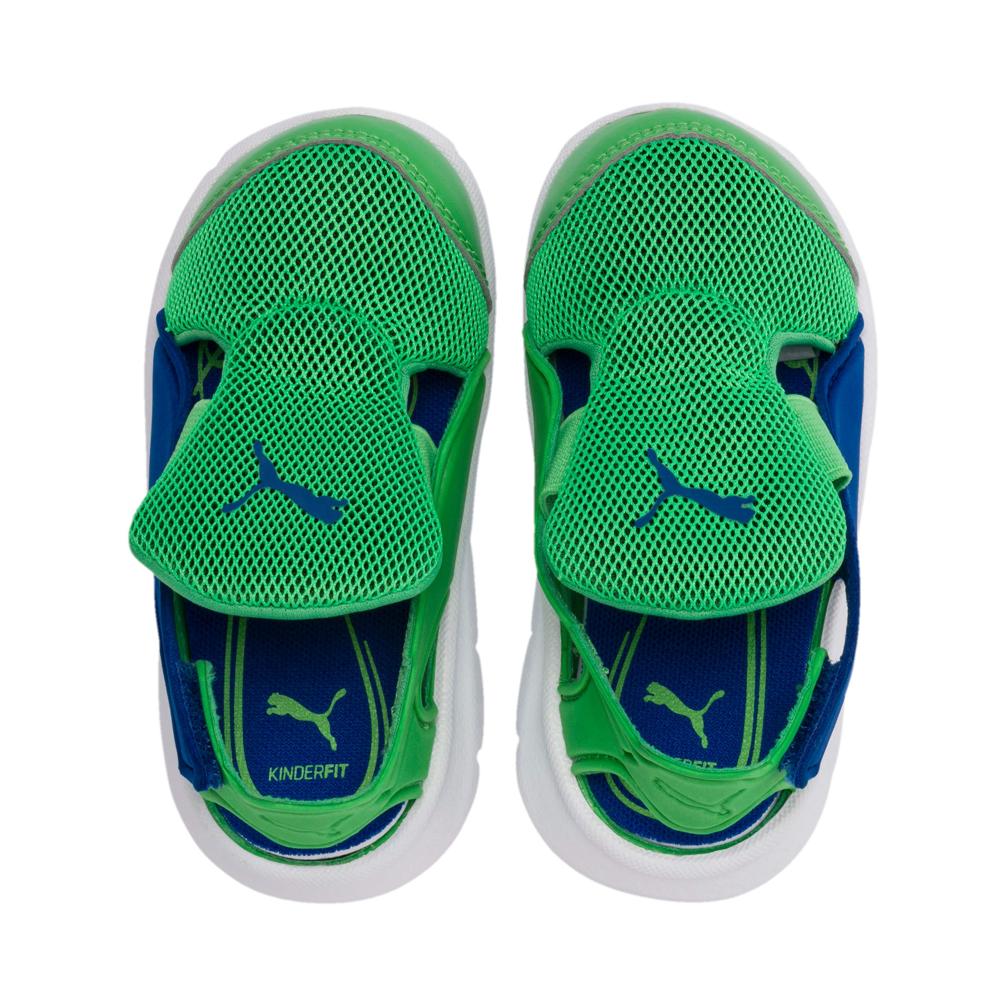 Thumbnail 6 of Bao 3 Open Little Kids' Shoes, Surf The Web-Irish Green, medium