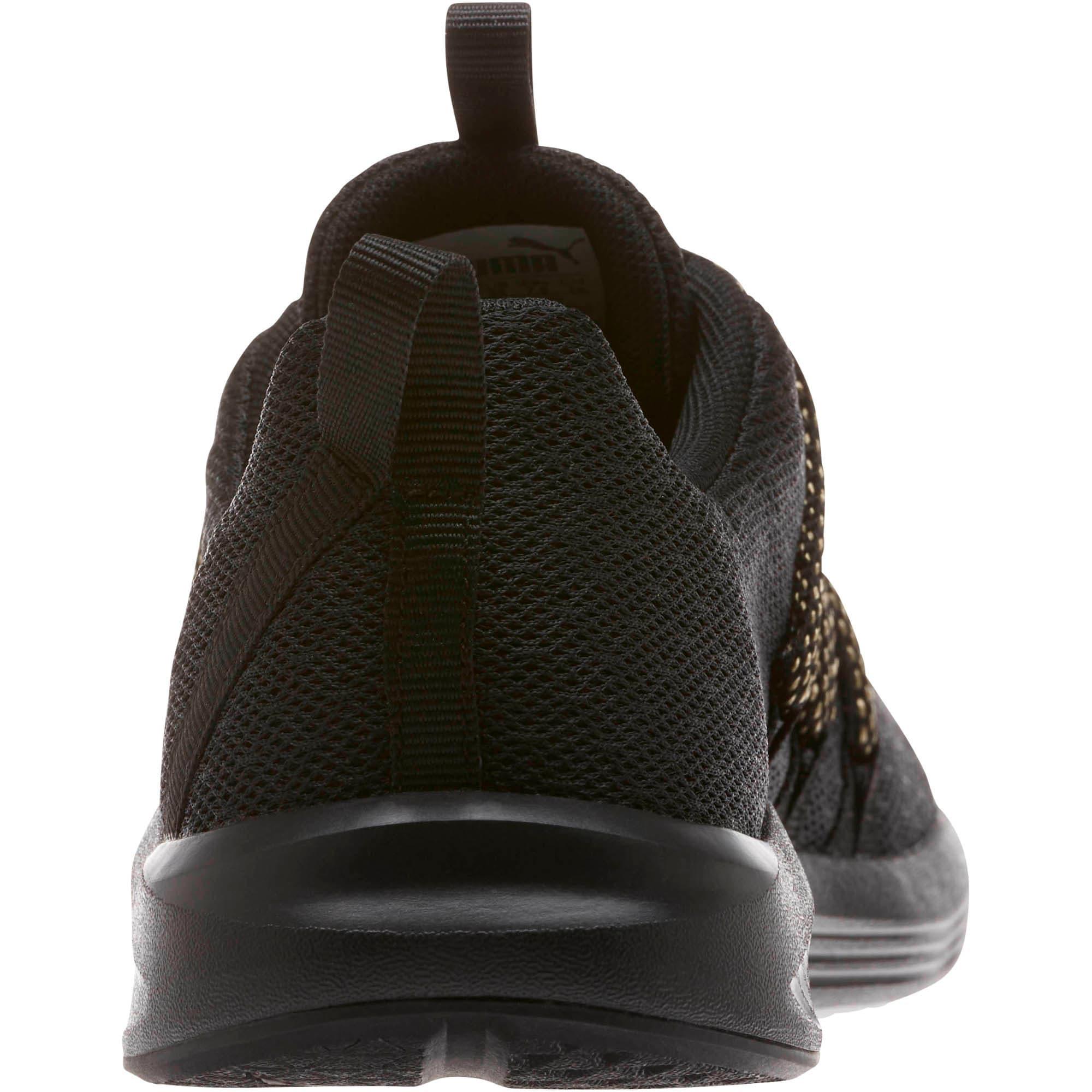 Thumbnail 4 of Prowl Alt Knit Mesh Women's Running Shoes, Puma Black-Metallic Gold, medium