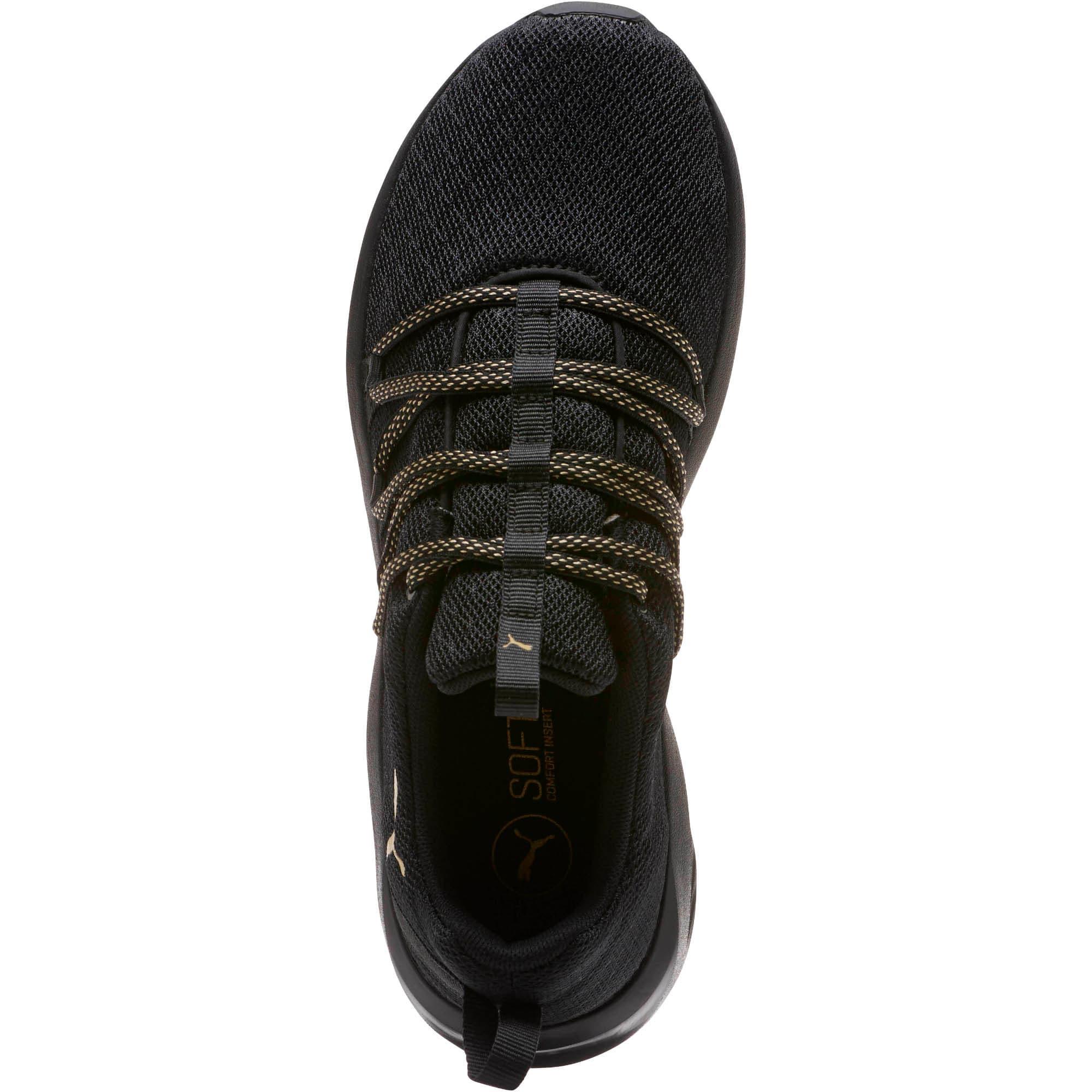 Thumbnail 5 of Prowl Alt Knit Mesh Women's Running Shoes, Puma Black-Metallic Gold, medium