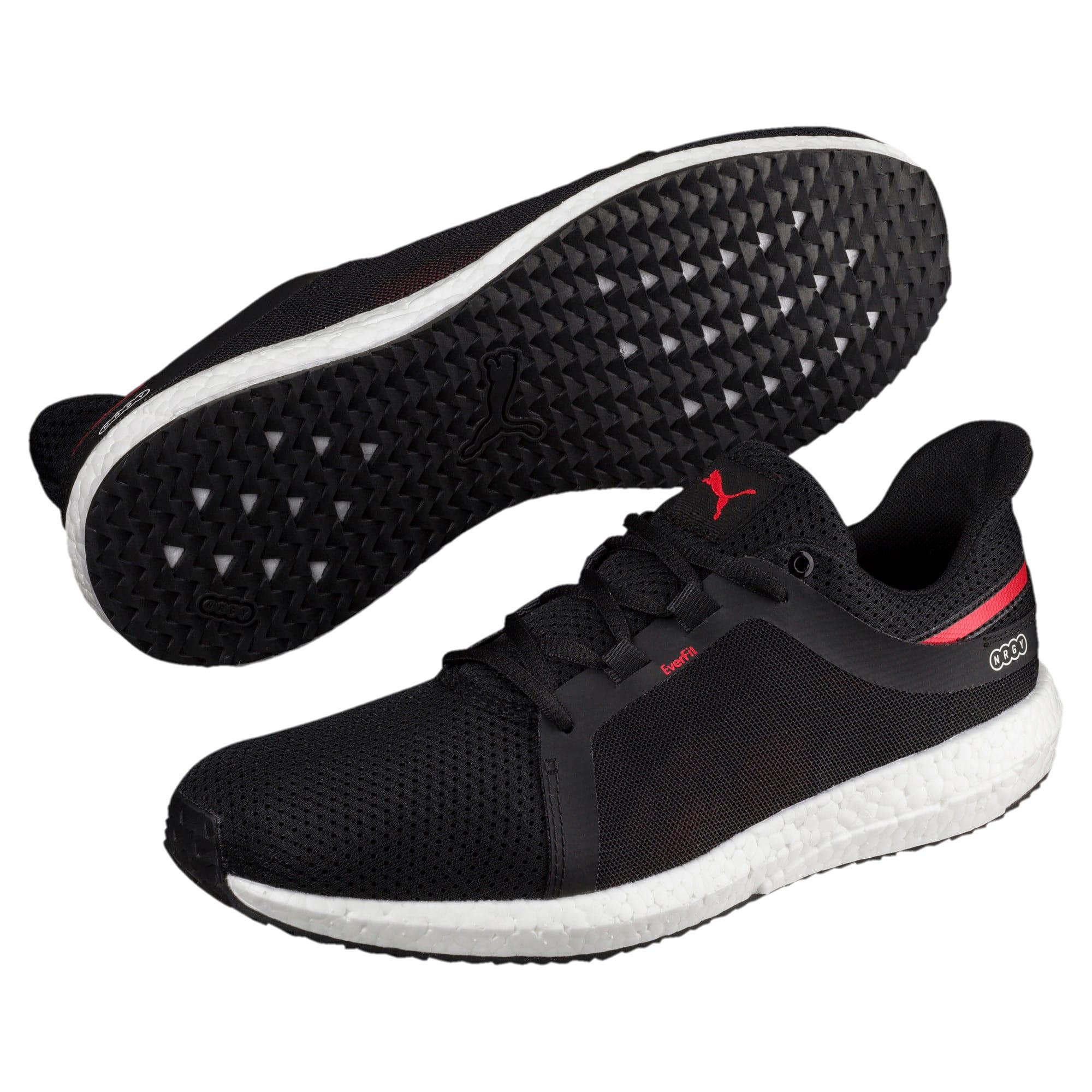 Thumbnail 2 of Mega NRGY Turbo 2 Men's Running Shoes, Puma Black-Ribbon Red, medium