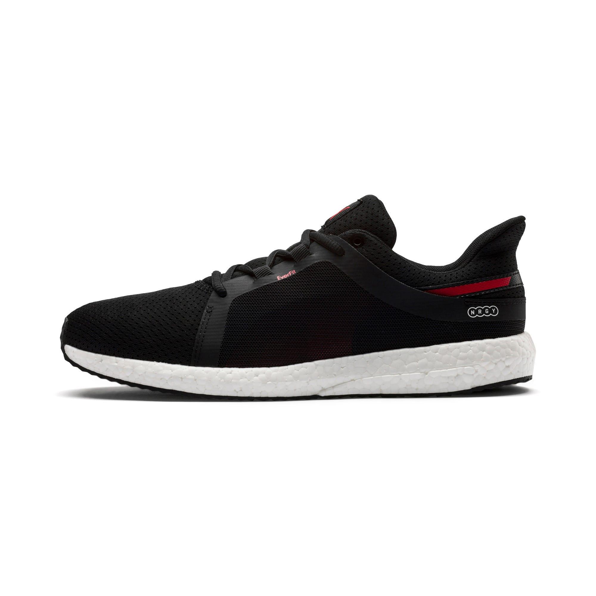 Thumbnail 1 of Mega NRGY Turbo 2 Men's Running Shoes, Puma Black-Ribbon Red, medium