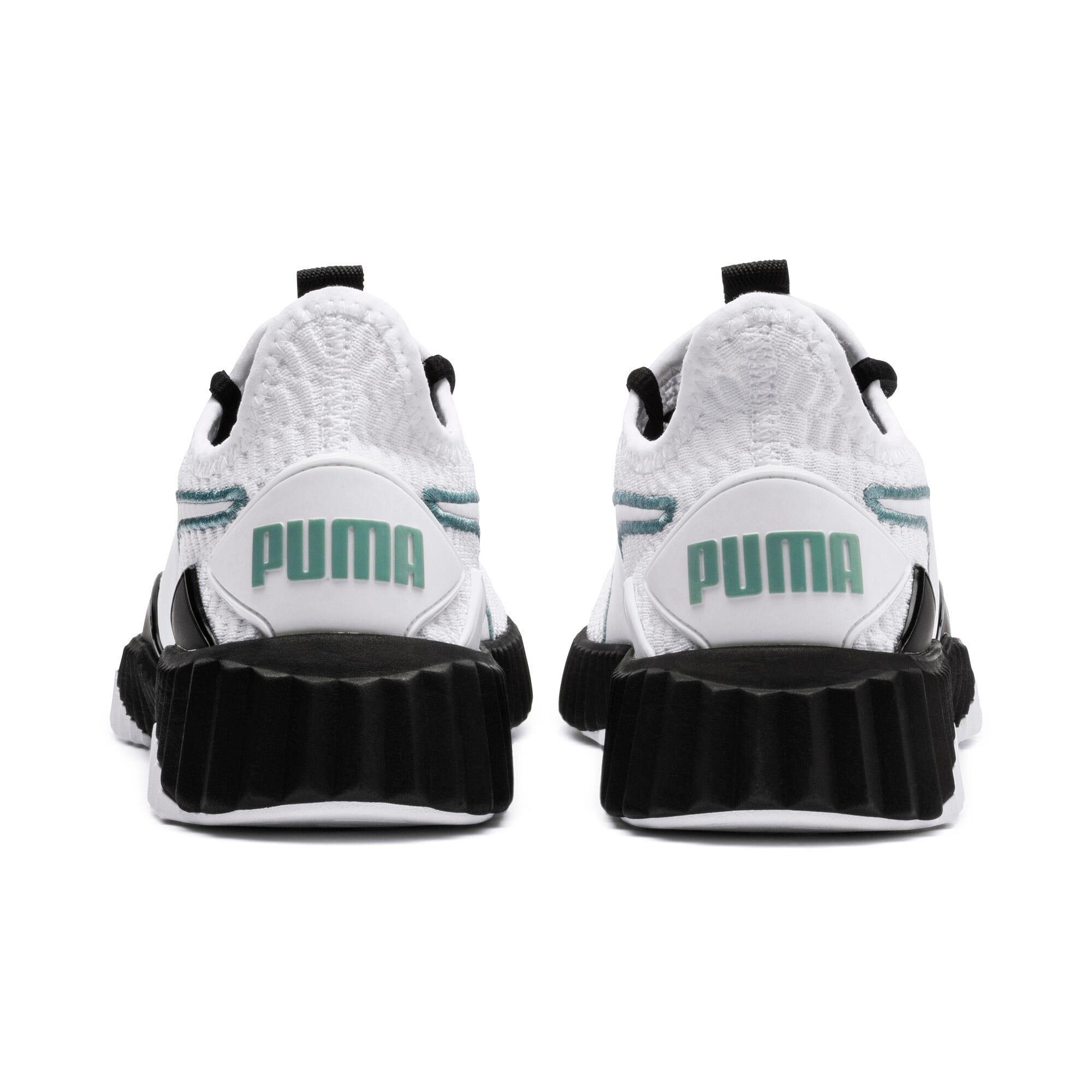 Thumbnail 4 of Defy Damen Sneaker, Puma White-Puma Black, medium