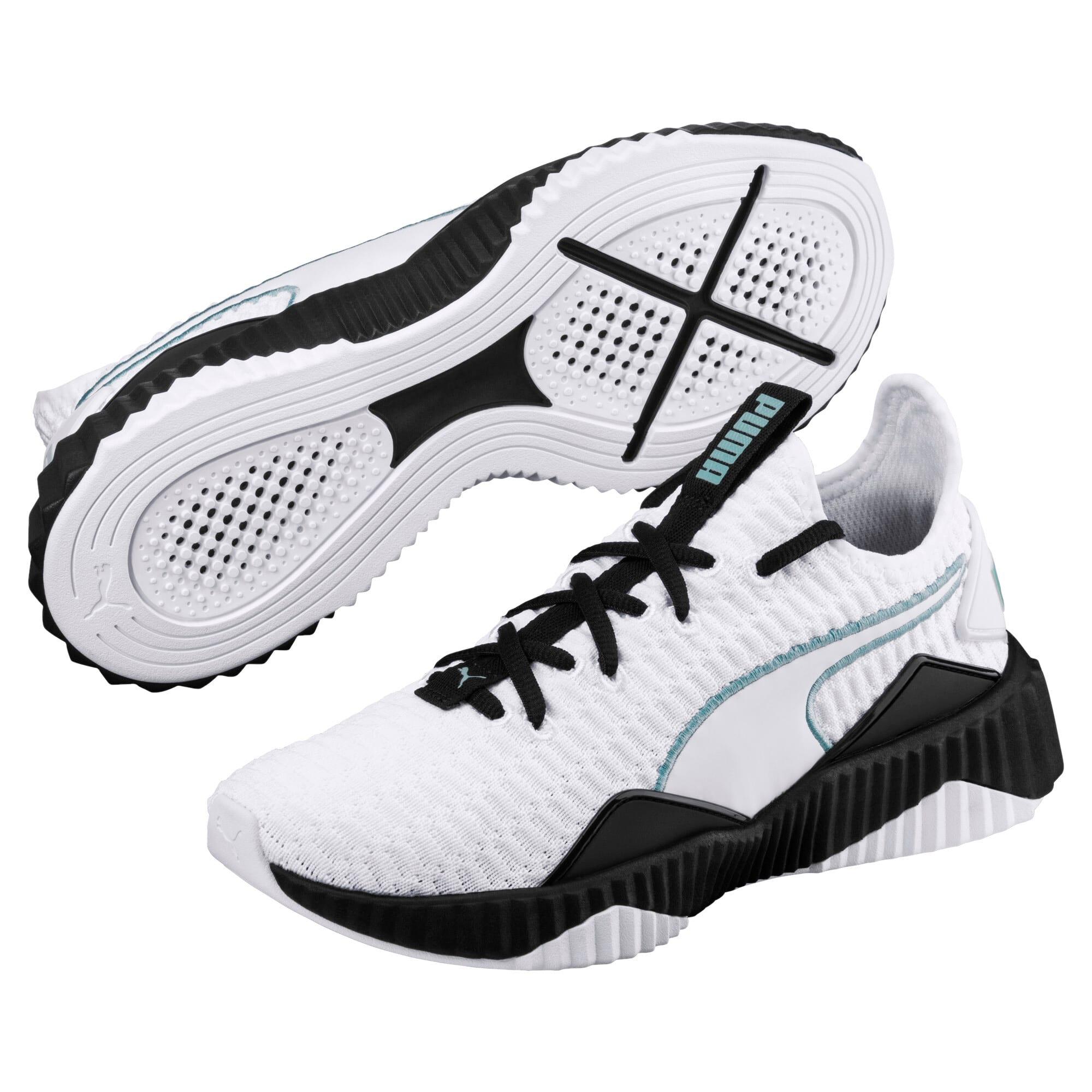 Thumbnail 2 of Defy Damen Sneaker, Puma White-Puma Black, medium