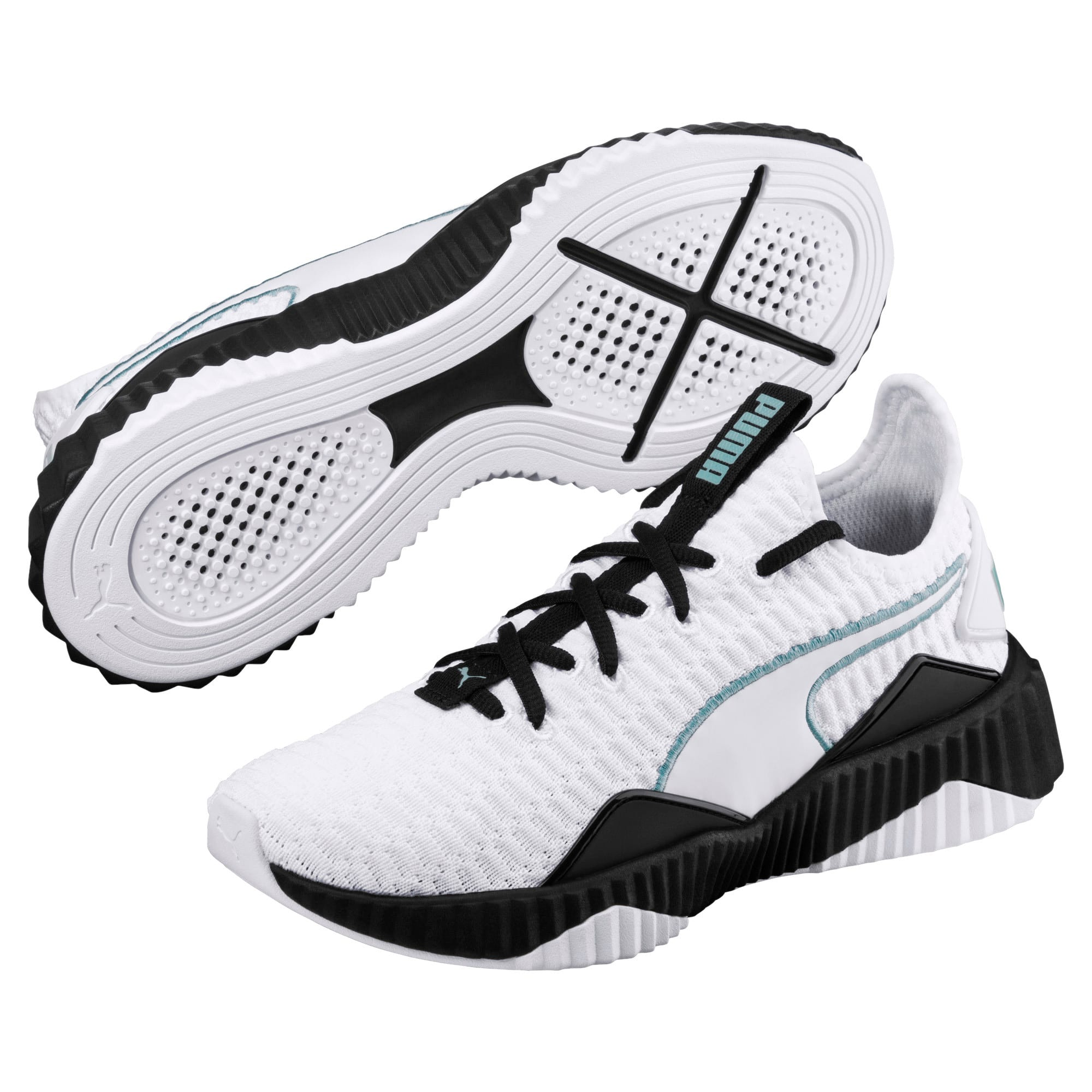 Thumbnail 2 of Defy Women's Training Shoes, Puma White-Puma Black, medium