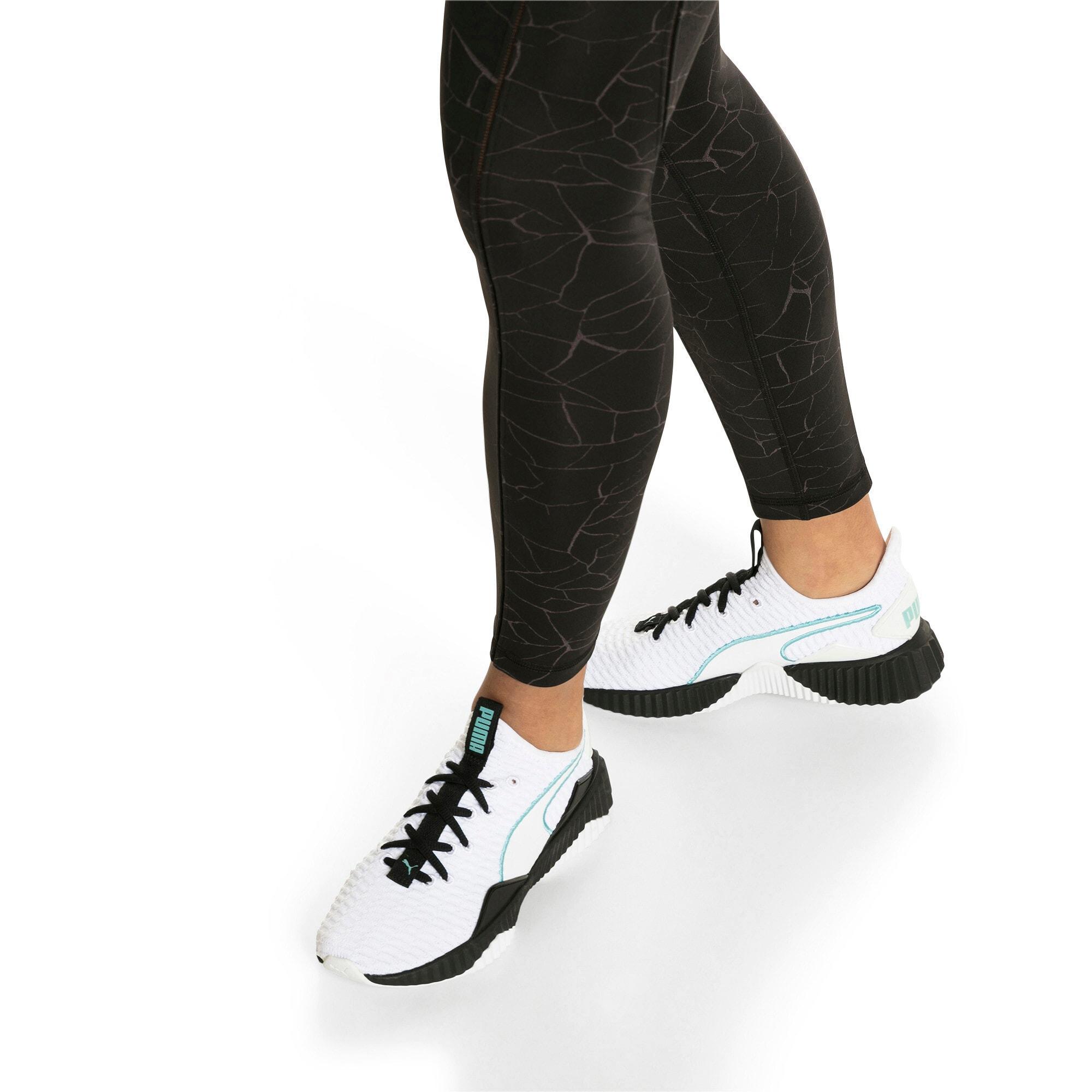 Thumbnail 8 of Defy Damen Sneaker, Puma White-Puma Black, medium