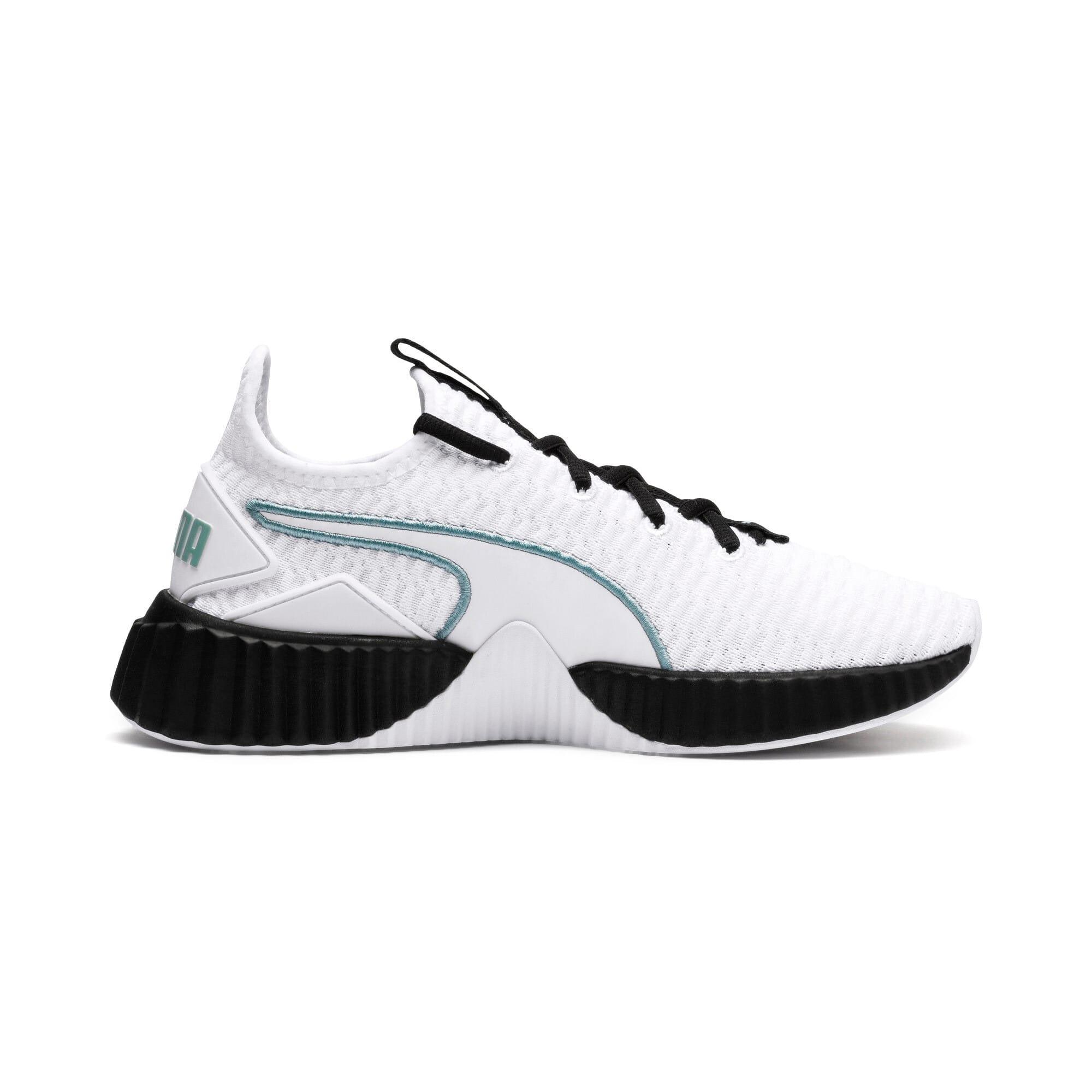 Thumbnail 5 of Defy Damen Sneaker, Puma White-Puma Black, medium