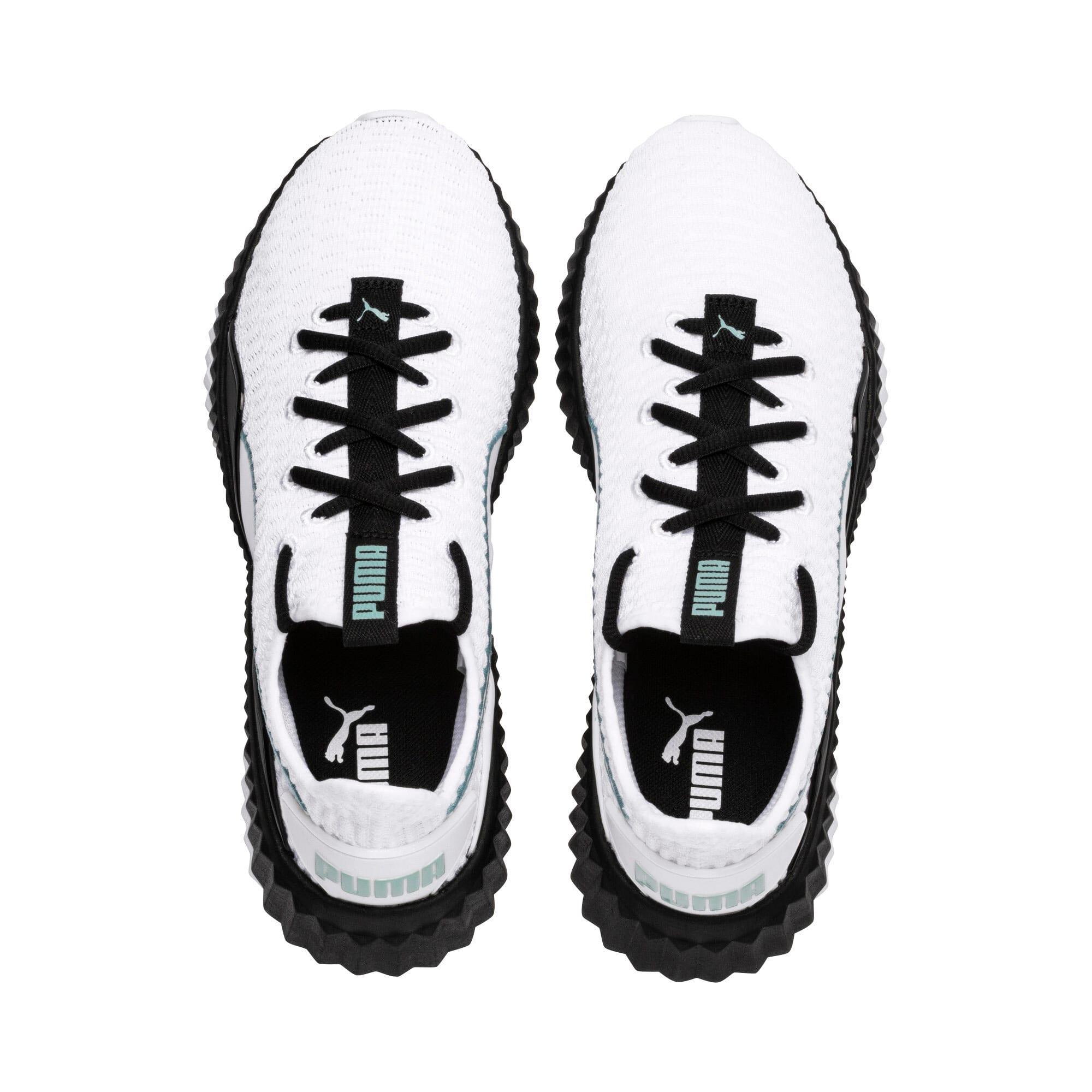Thumbnail 7 of Defy Damen Sneaker, Puma White-Puma Black, medium
