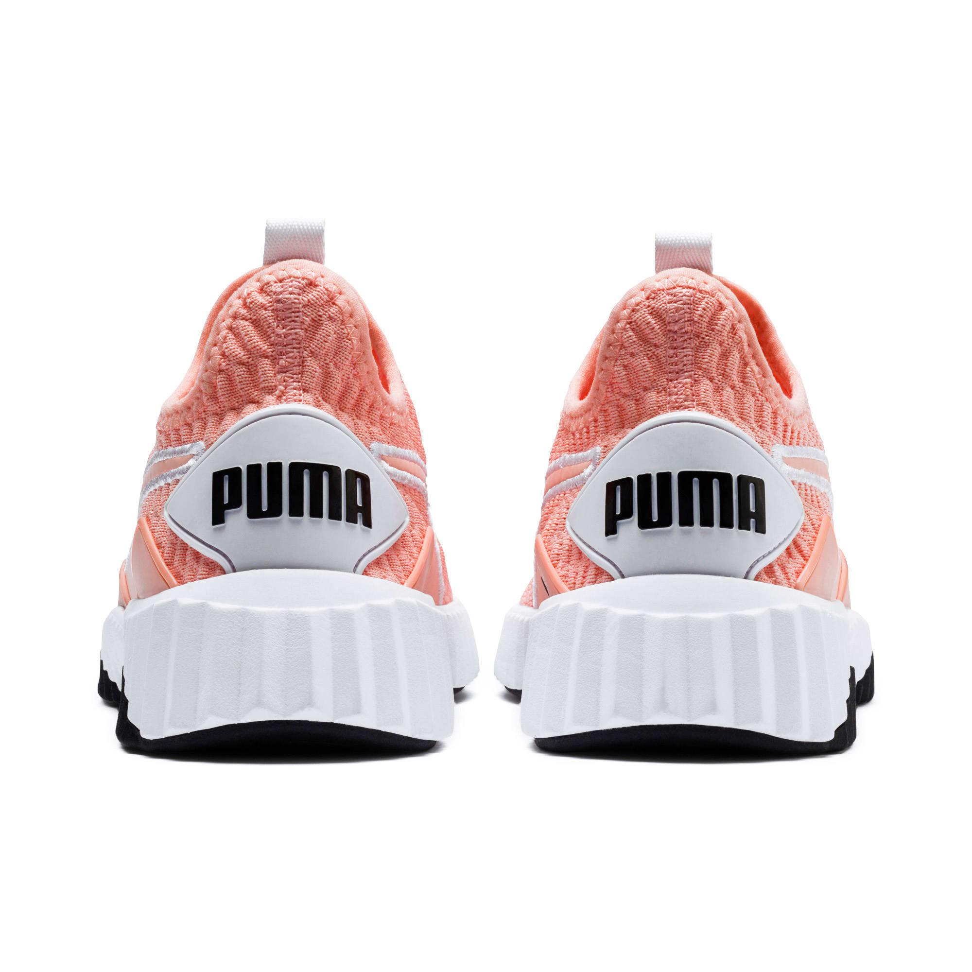 Thumbnail 4 of Defy Damen Sneaker, Peach Bud-Puma White, medium