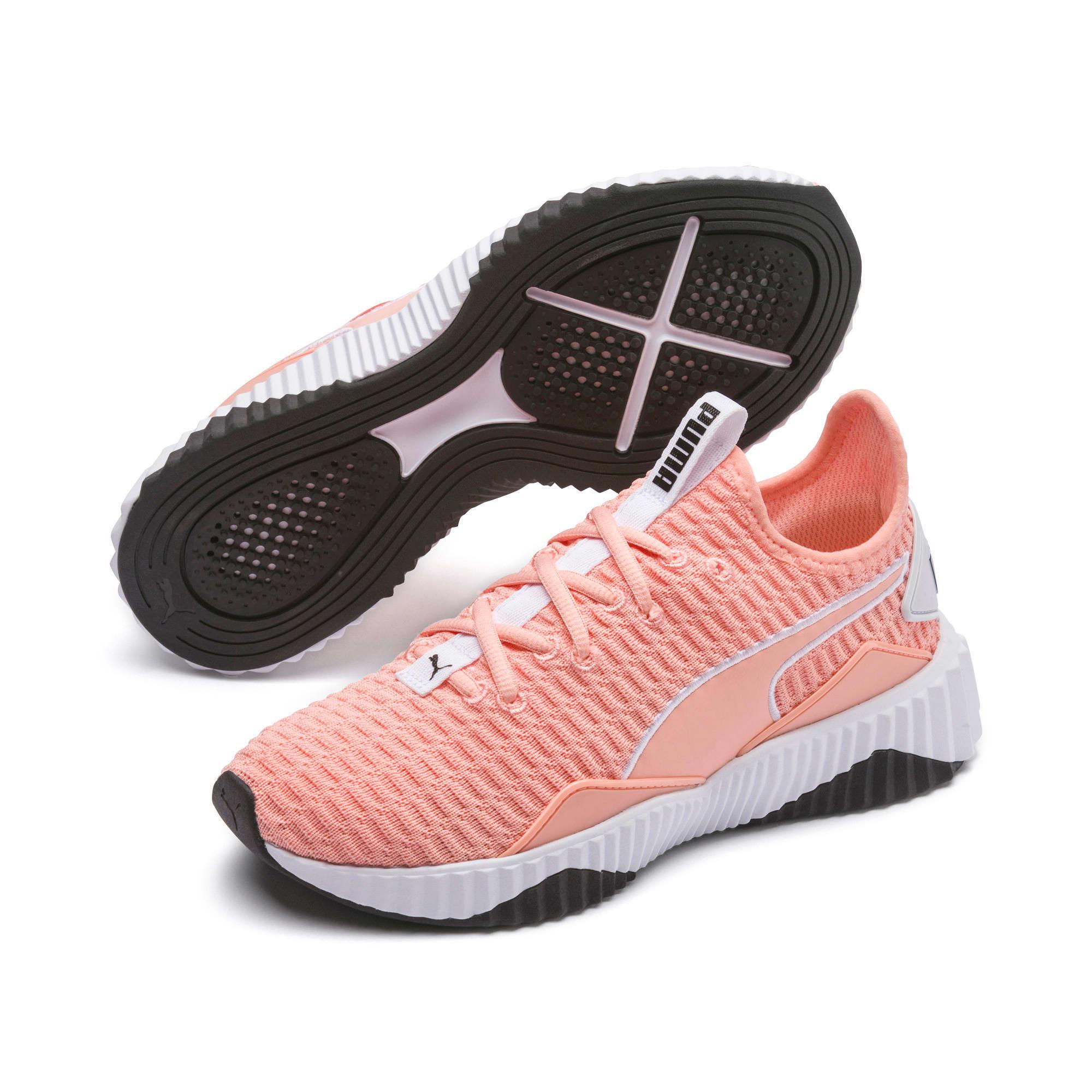 Thumbnail 3 of Defy Damen Sneaker, Peach Bud-Puma White, medium