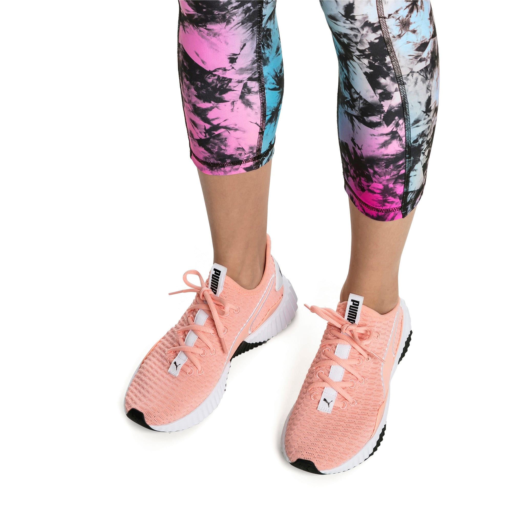 Thumbnail 2 of Defy Damen Sneaker, Peach Bud-Puma White, medium