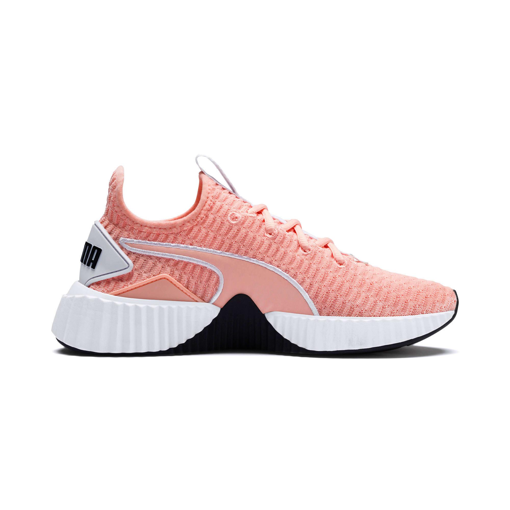 Thumbnail 6 of Defy Damen Sneaker, Peach Bud-Puma White, medium