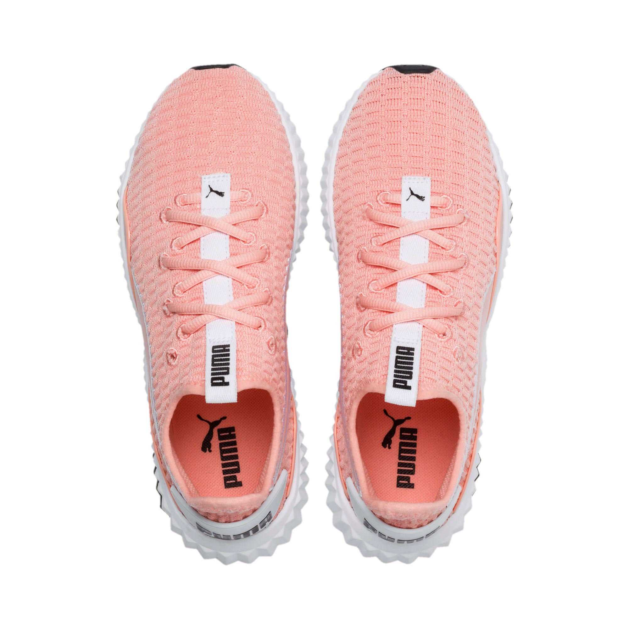Thumbnail 7 of Defy Damen Sneaker, Peach Bud-Puma White, medium