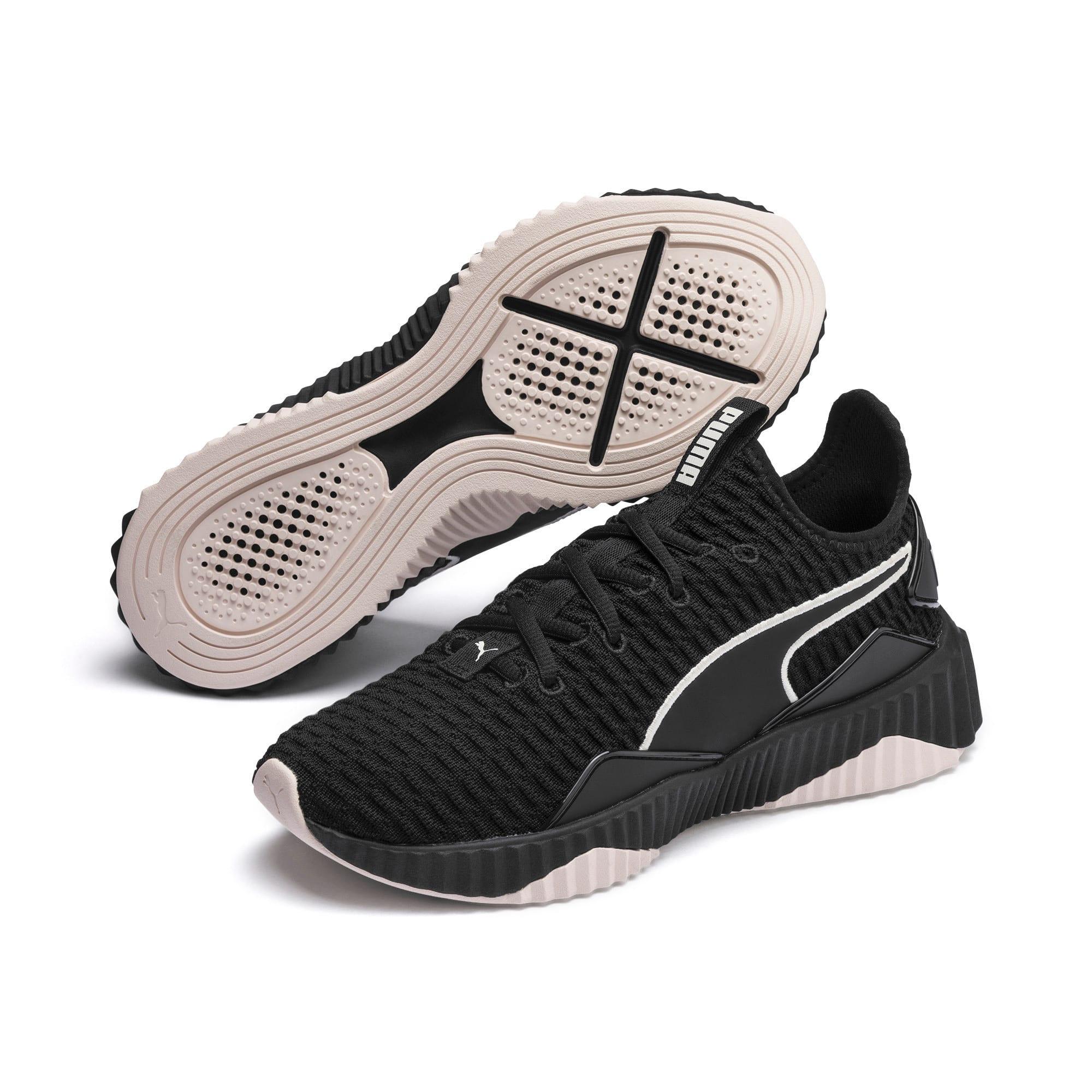 Miniatura 3 de Zapatos de entrenamiento Defy para mujer, Puma Black-Pastel Parchment, mediano