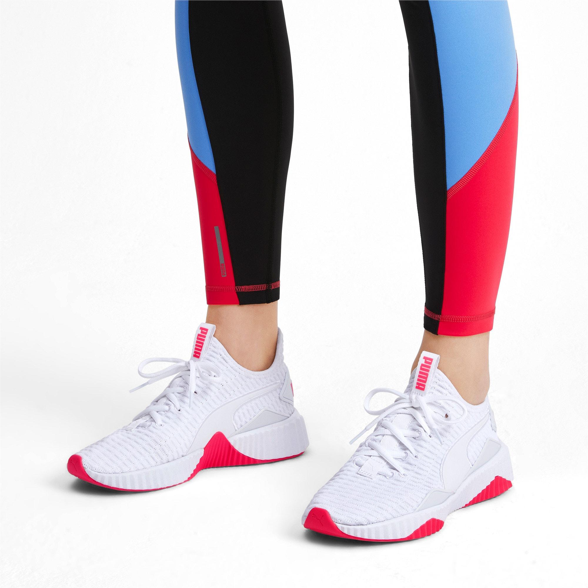 Thumbnail 2 of Defy Damen Sneaker, Puma White-Pink Alert, medium