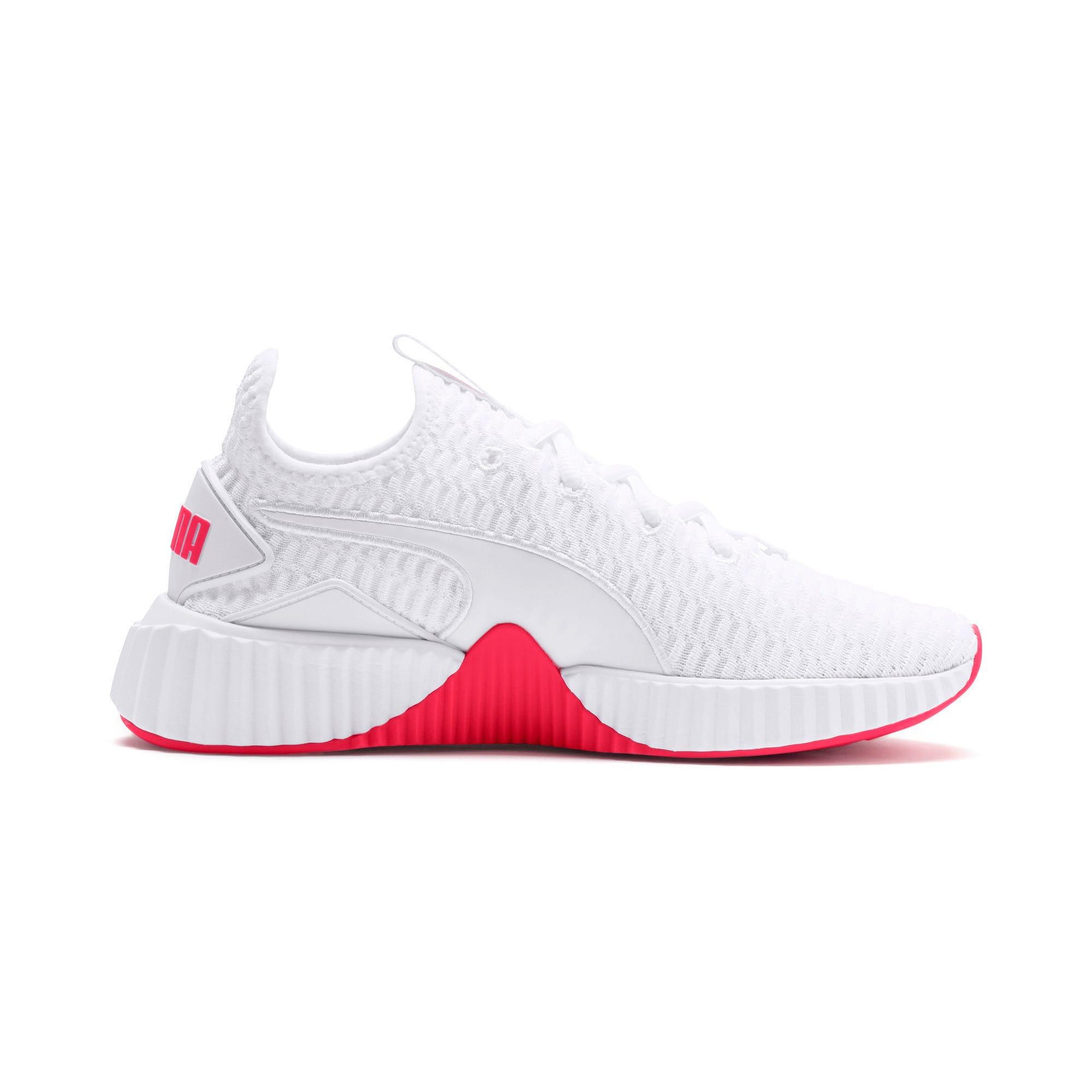 Thumbnail 6 of Defy Damen Sneaker, Puma White-Pink Alert, medium