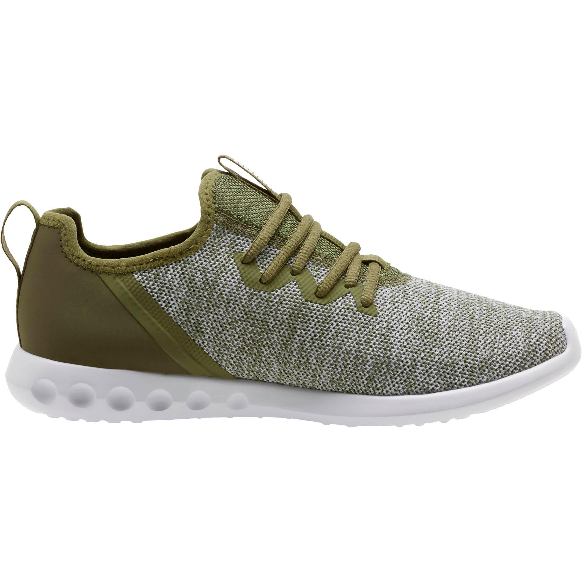 Thumbnail 3 of Carson 2 X Knit Men's Running Shoes, Olivine-Puma White, medium