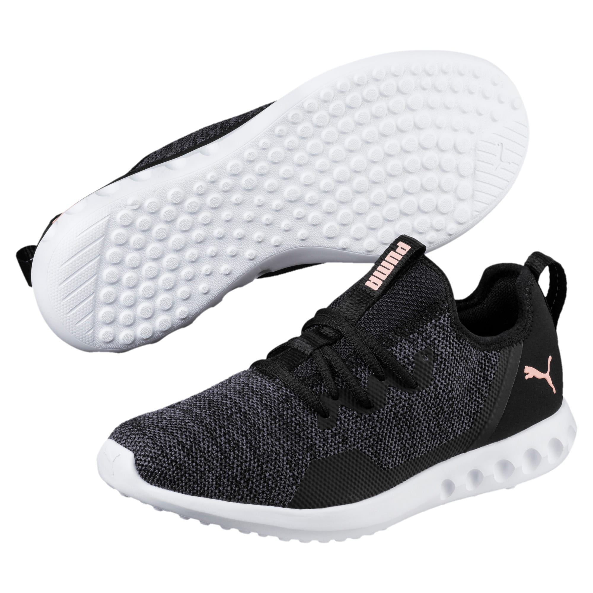 Thumbnail 1 of Carson 2 X Knit Women's Running Shoes, Puma Black-Periscope, medium