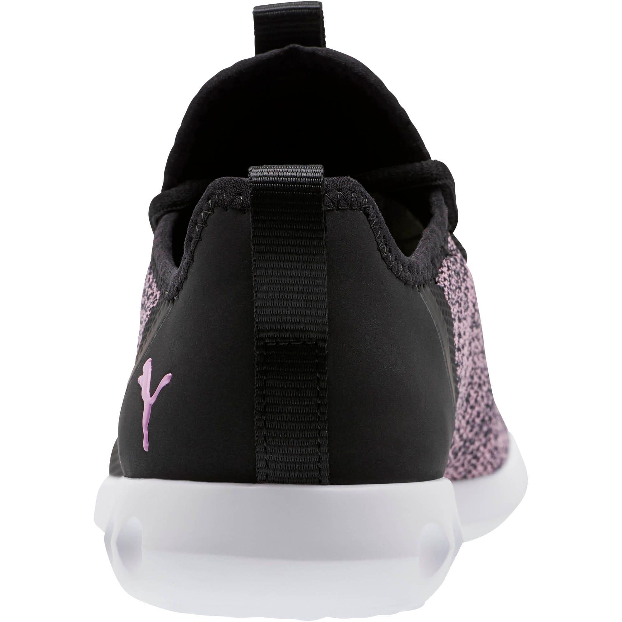 Thumbnail 3 of Carson 2 X Knit Women's Running Shoes, Puma Black-Orchid, medium