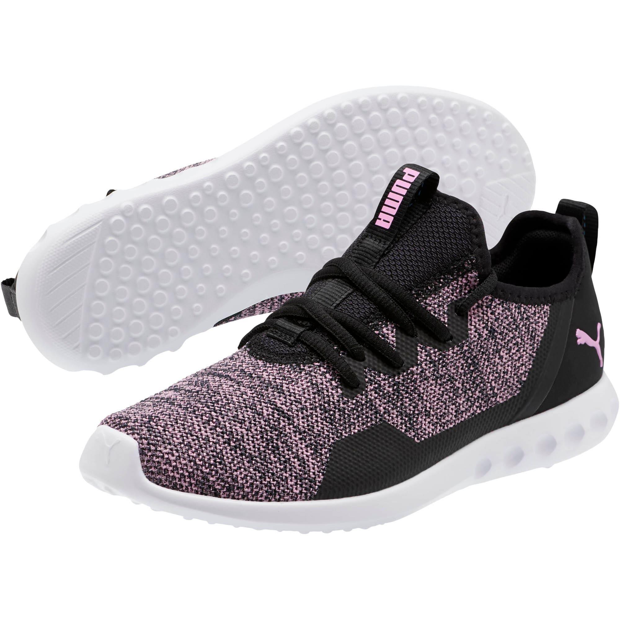 Thumbnail 2 of Carson 2 X Knit Women's Running Shoes, Puma Black-Orchid, medium