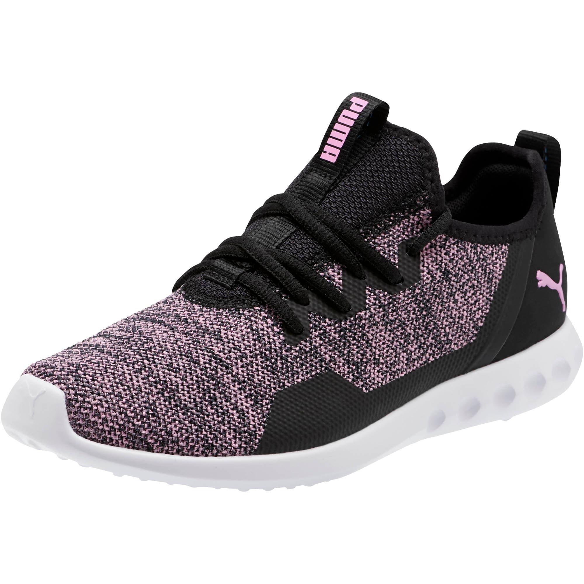Thumbnail 1 of Carson 2 X Knit Women's Running Shoes, Puma Black-Orchid, medium