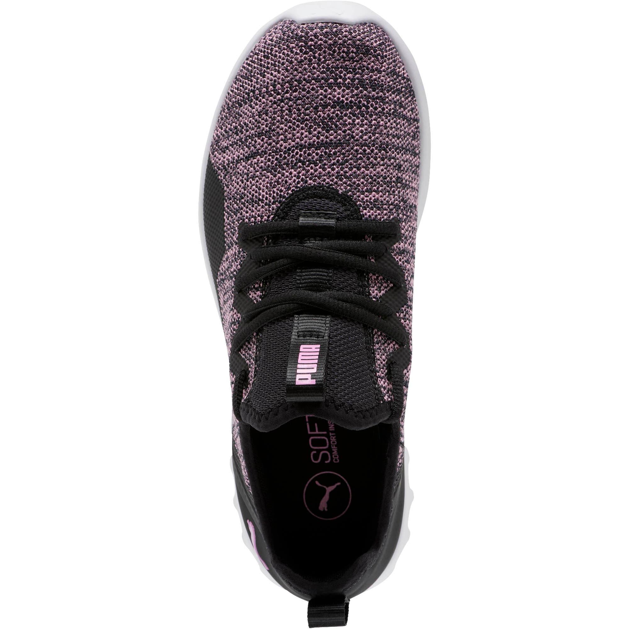 Thumbnail 6 of Carson 2 X Knit Women's Running Shoes, Puma Black-Orchid, medium