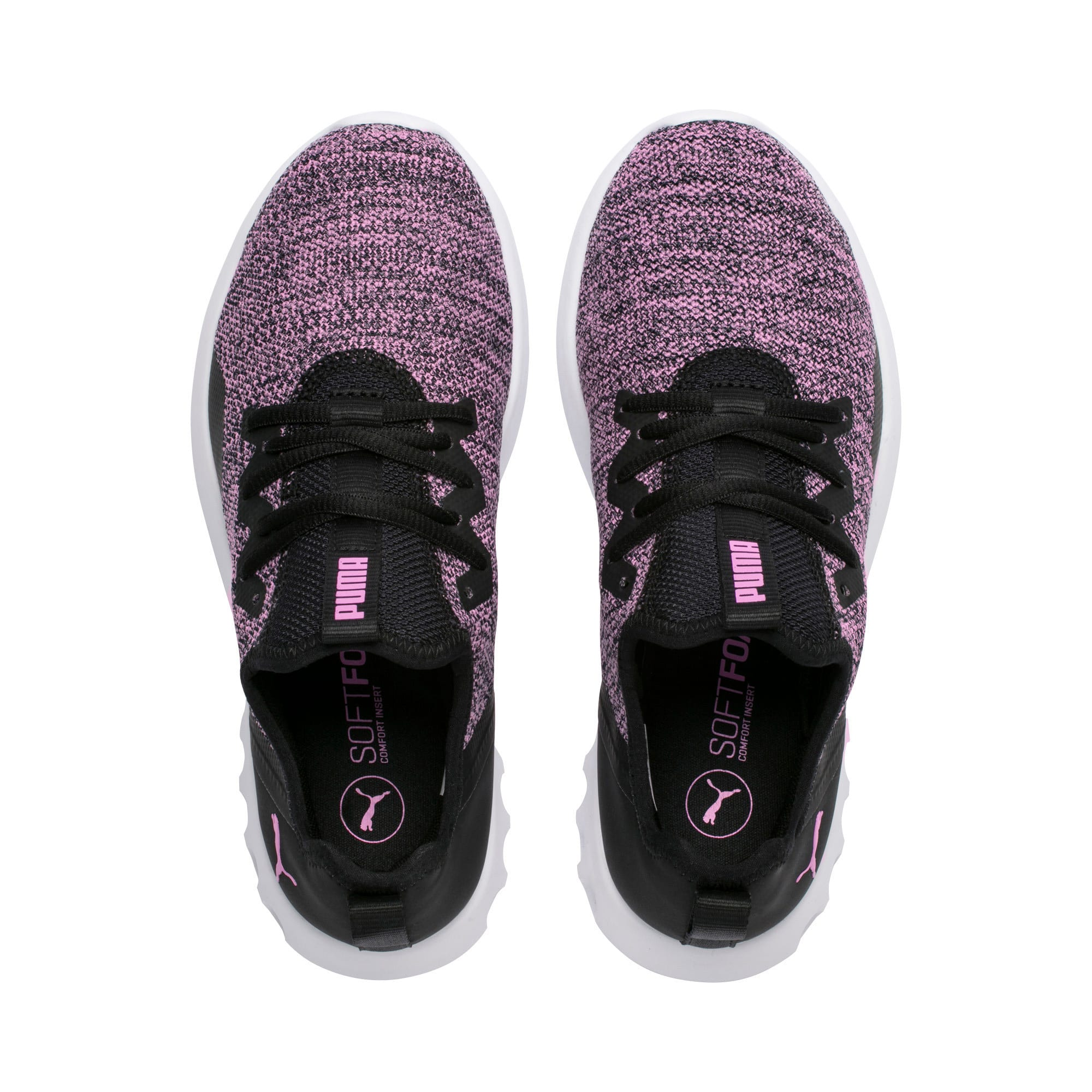 Thumbnail 4 of Carson 2 X Knit Women's Running Shoes, Puma Black-Orchid, medium