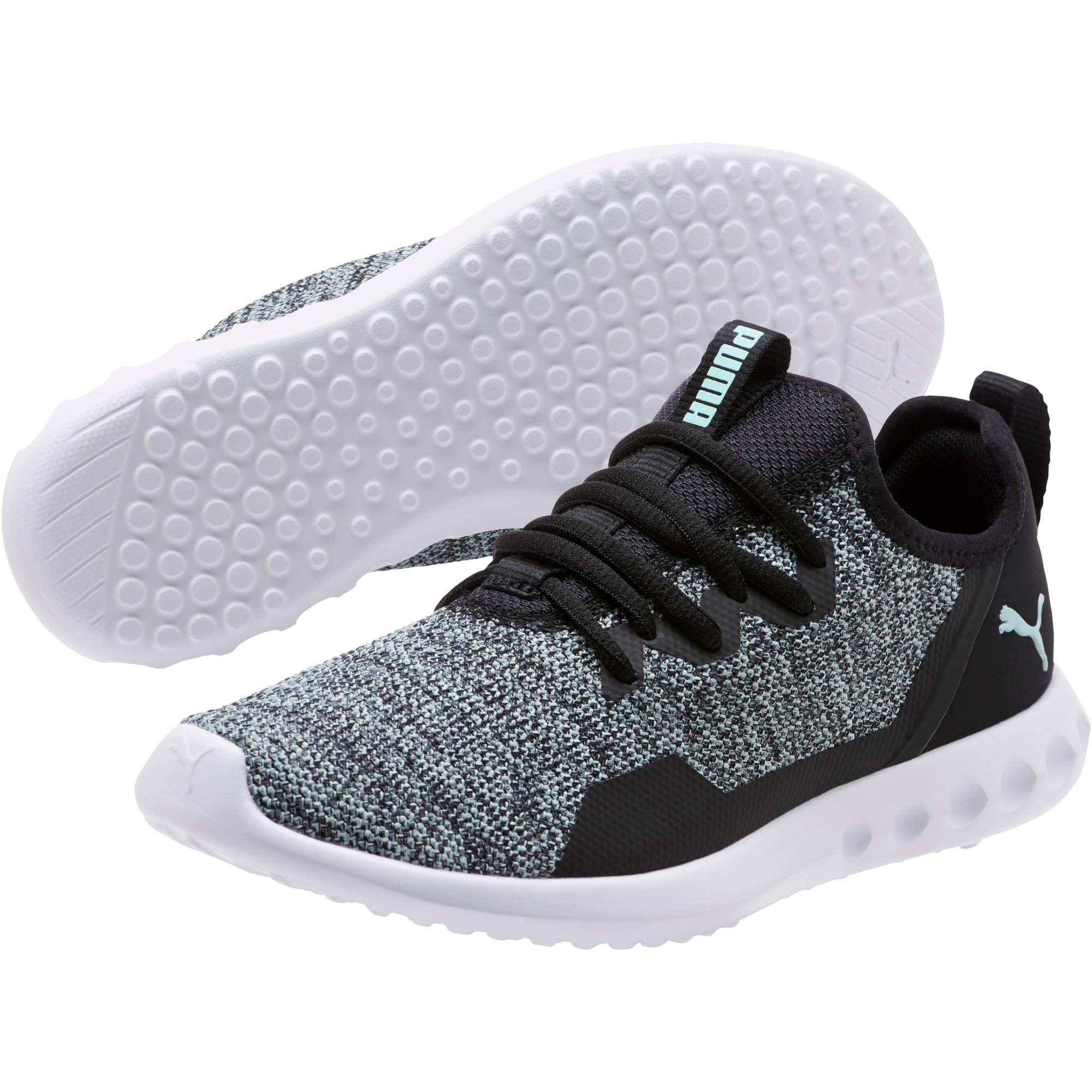 Thumbnail 2 of Carson 2 X Knit Women's Running Shoes, Puma Black-Fair Aqua, medium